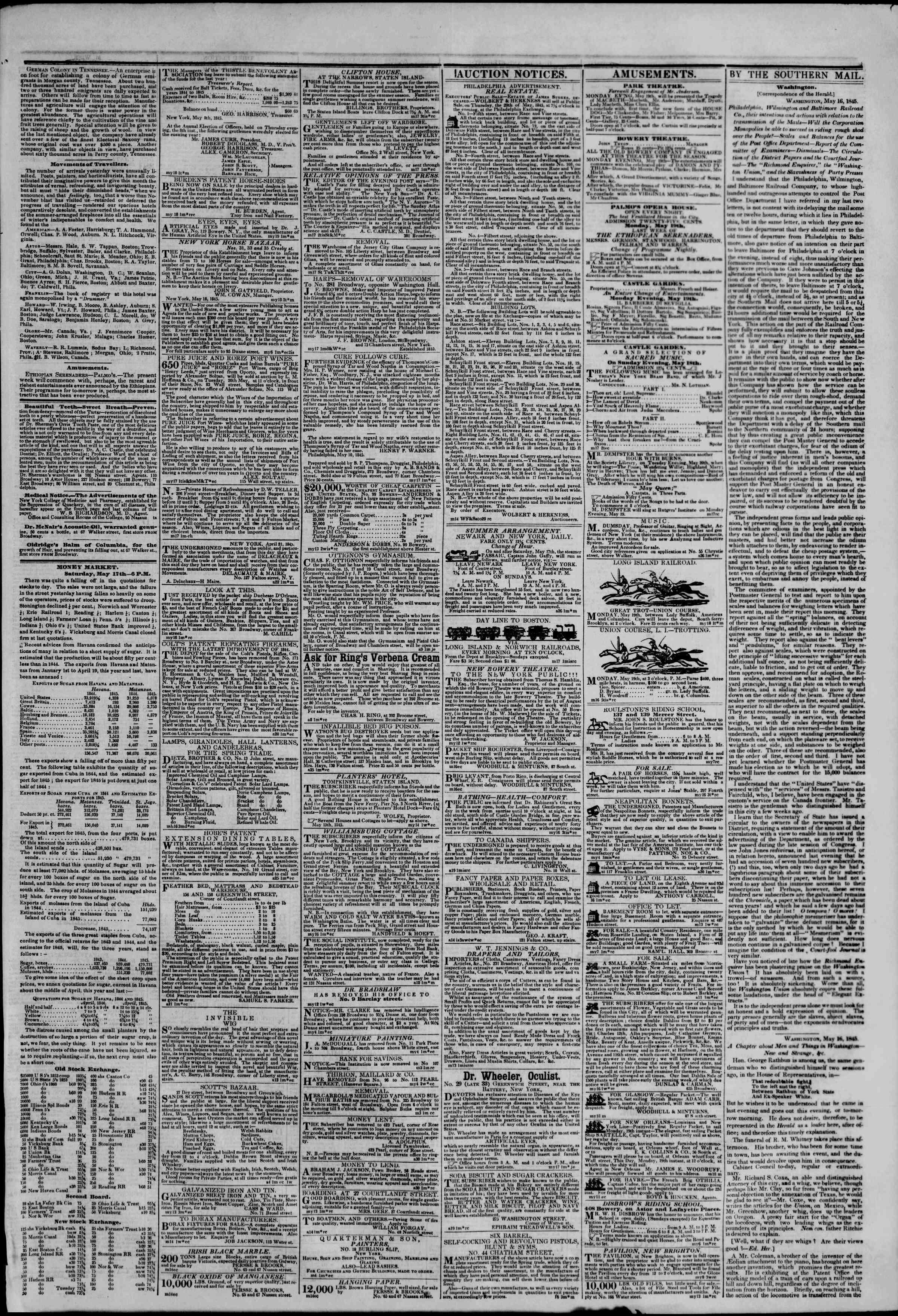 May 18, 1845 Tarihli The New York Herald Gazetesi Sayfa 3