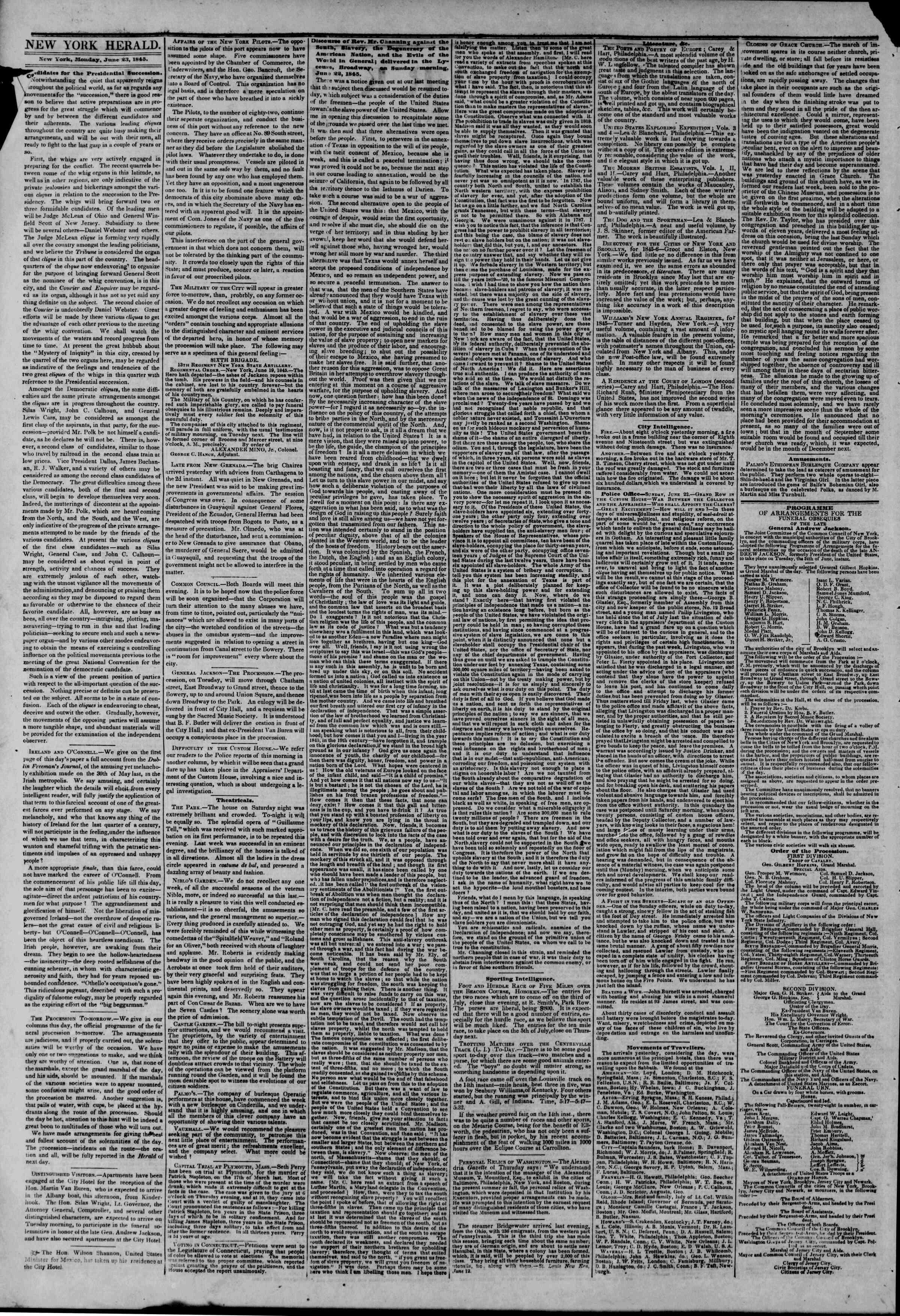 June 23, 1845 Tarihli The New York Herald Gazetesi Sayfa 2