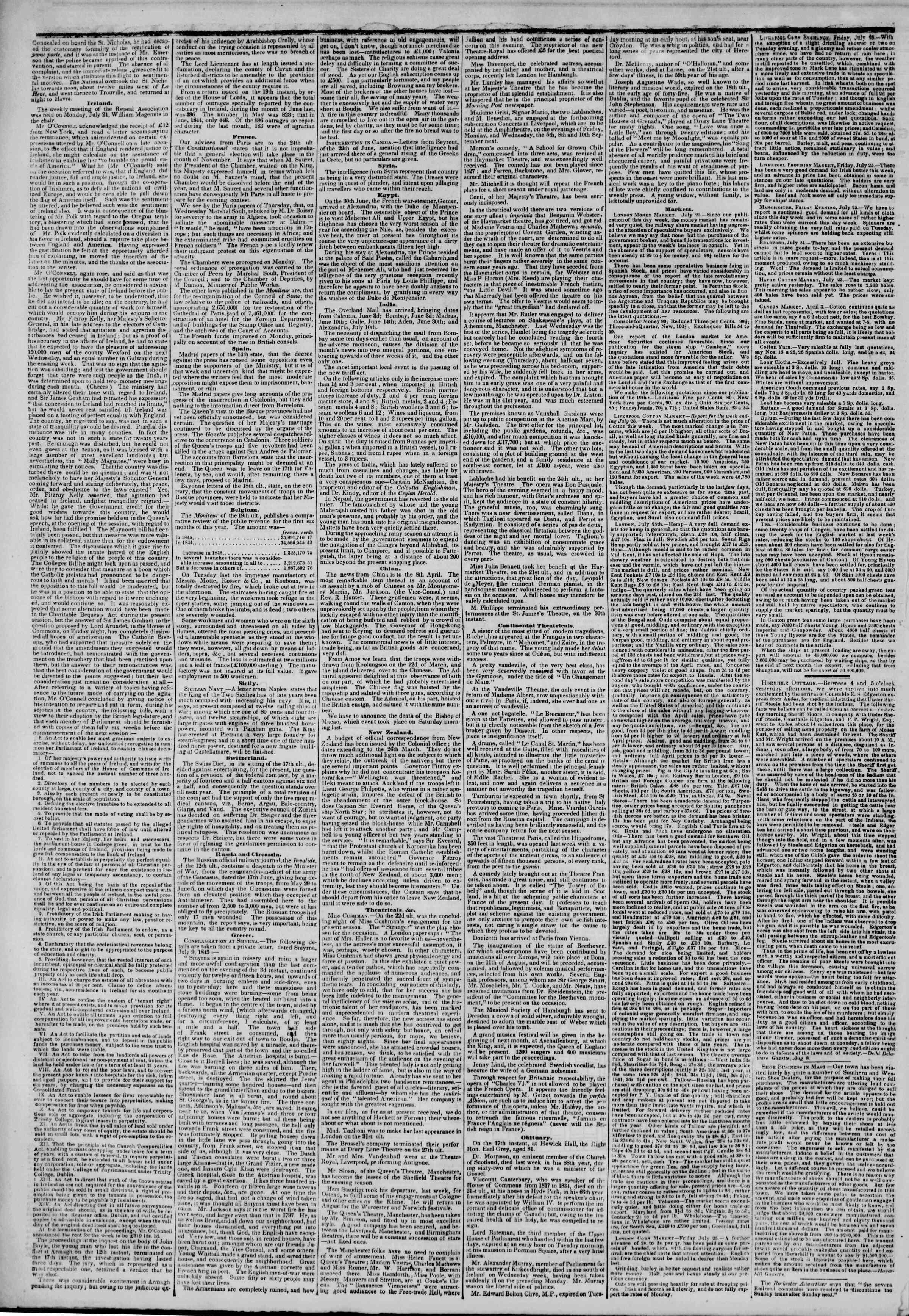 August 11, 1845 Tarihli The New York Herald Gazetesi Sayfa 2