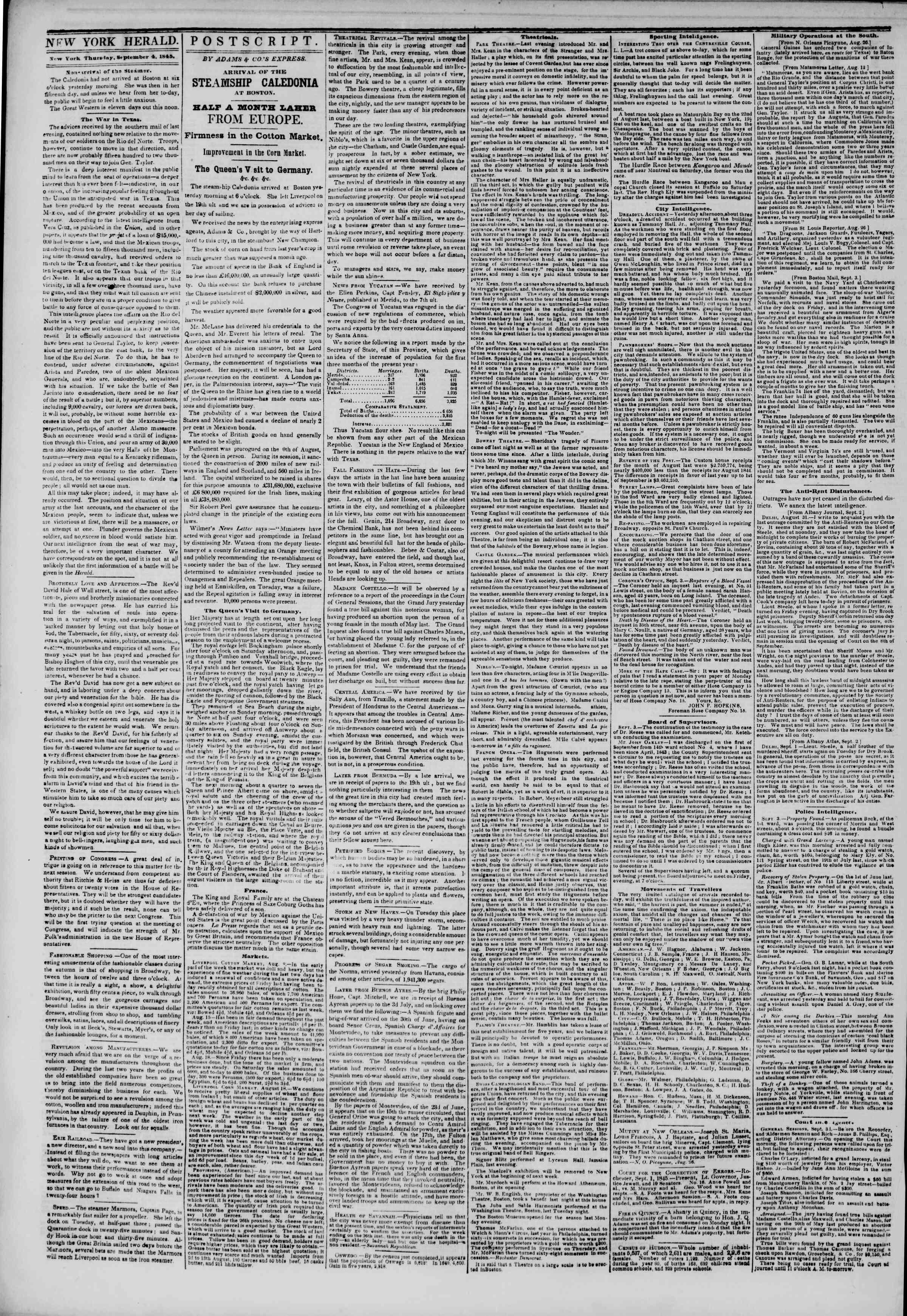 September 4, 1845 Tarihli The New York Herald Gazetesi Sayfa 2