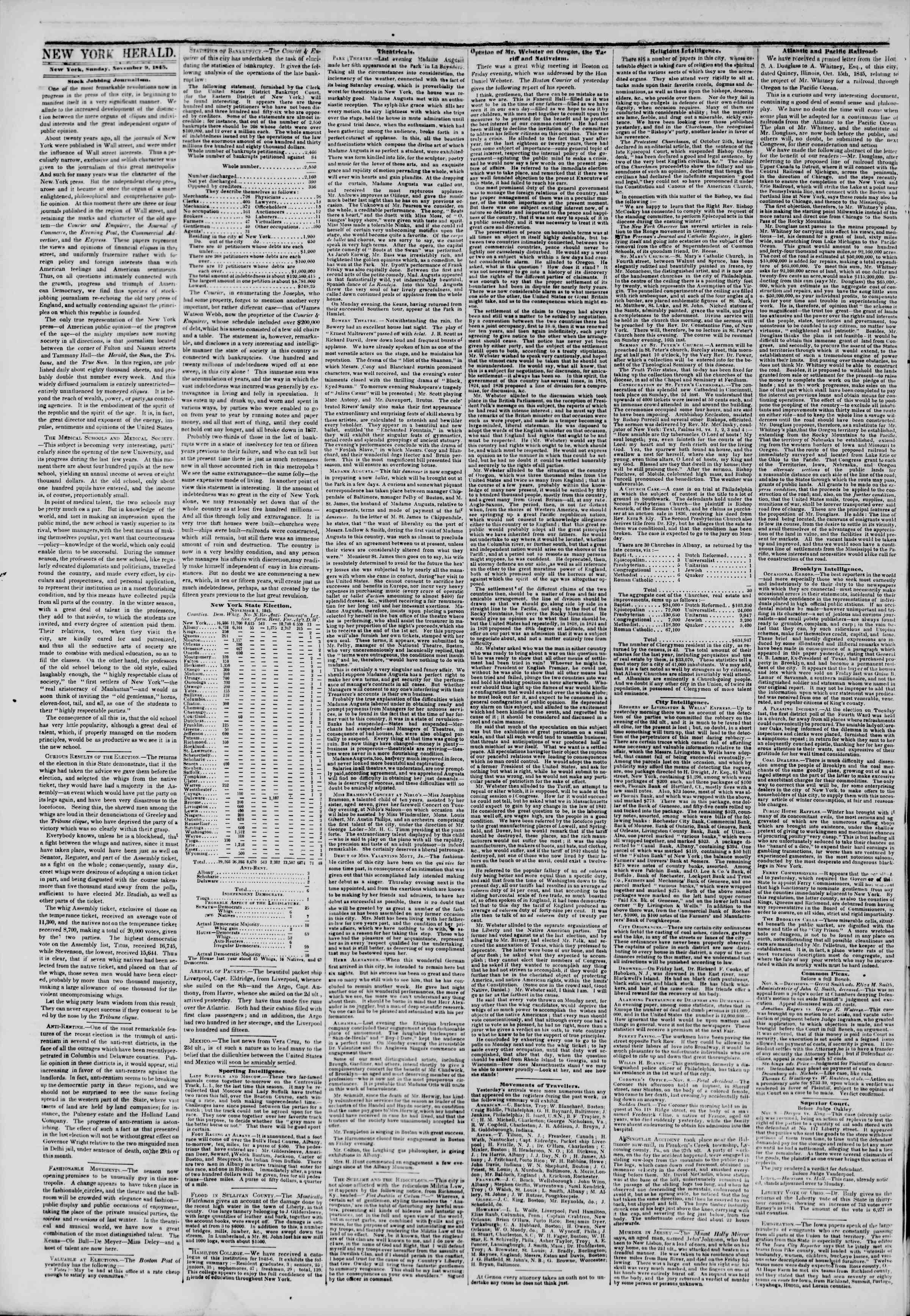 November 9, 1845 Tarihli The New York Herald Gazetesi Sayfa 2