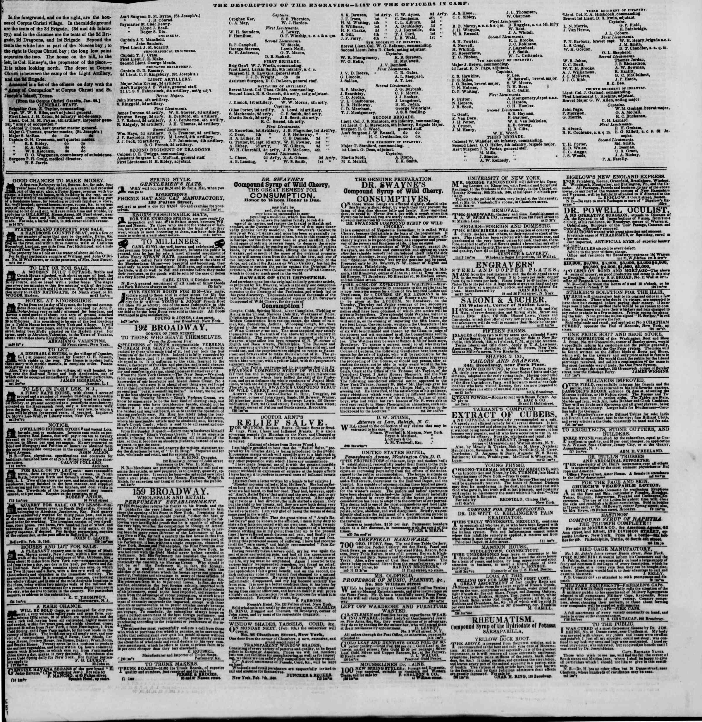 Newspaper of The New York Herald dated March 14, 1846 Page 7