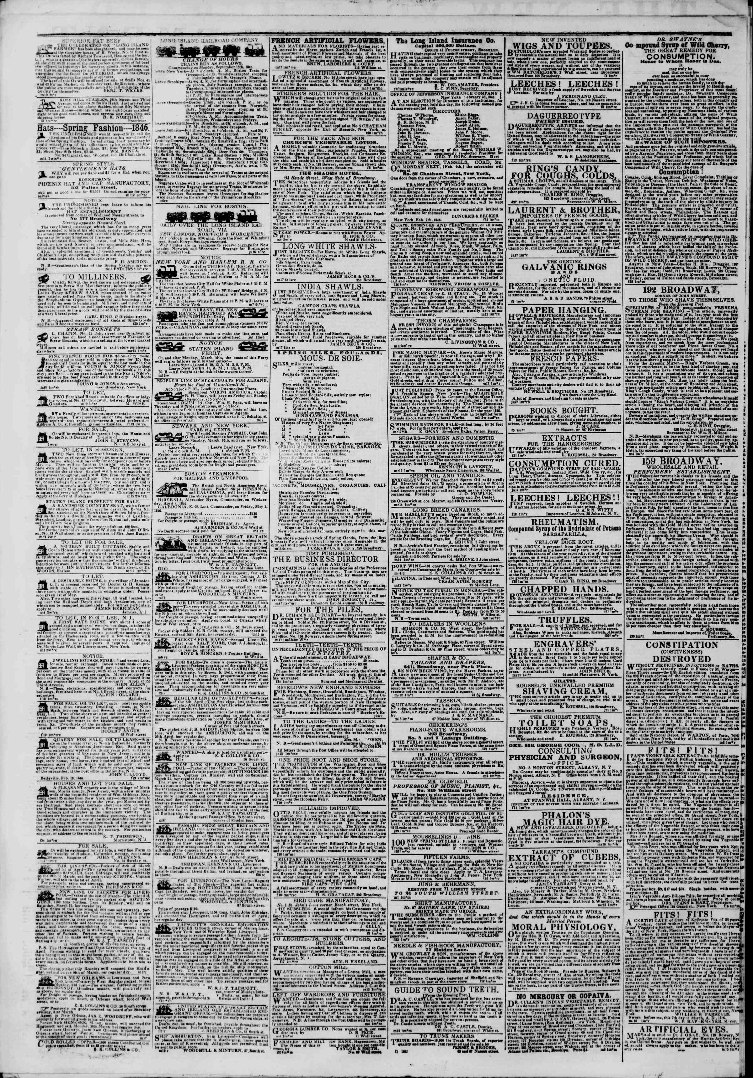Newspaper of The New York Herald dated March 20, 1846 Page 6