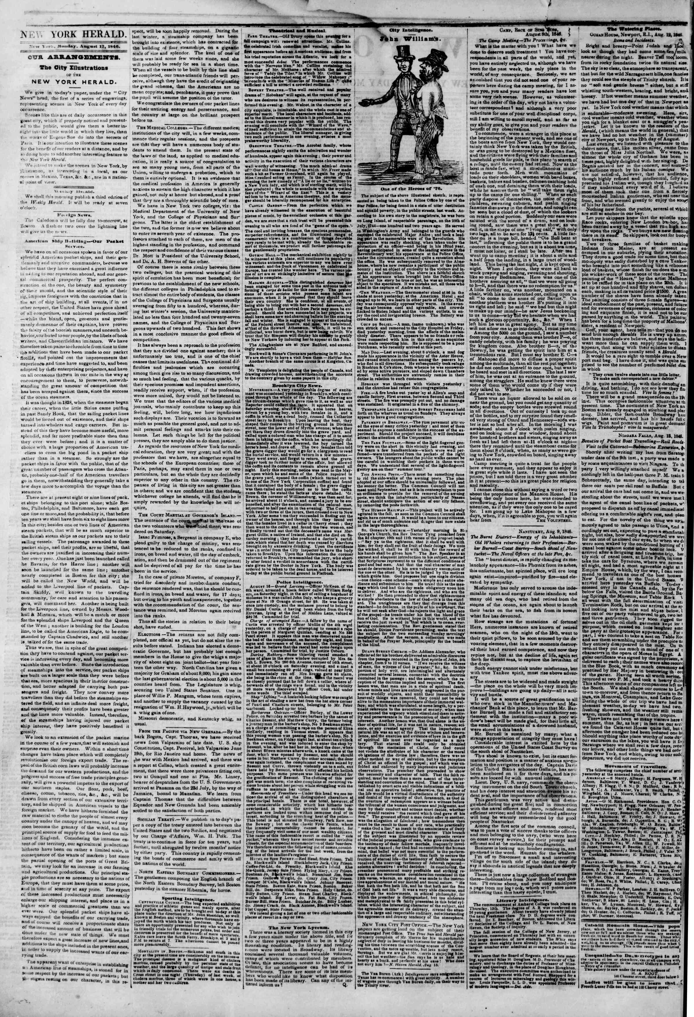 Newspaper of The New York Herald dated 17 Ağustos 1846 Page 2
