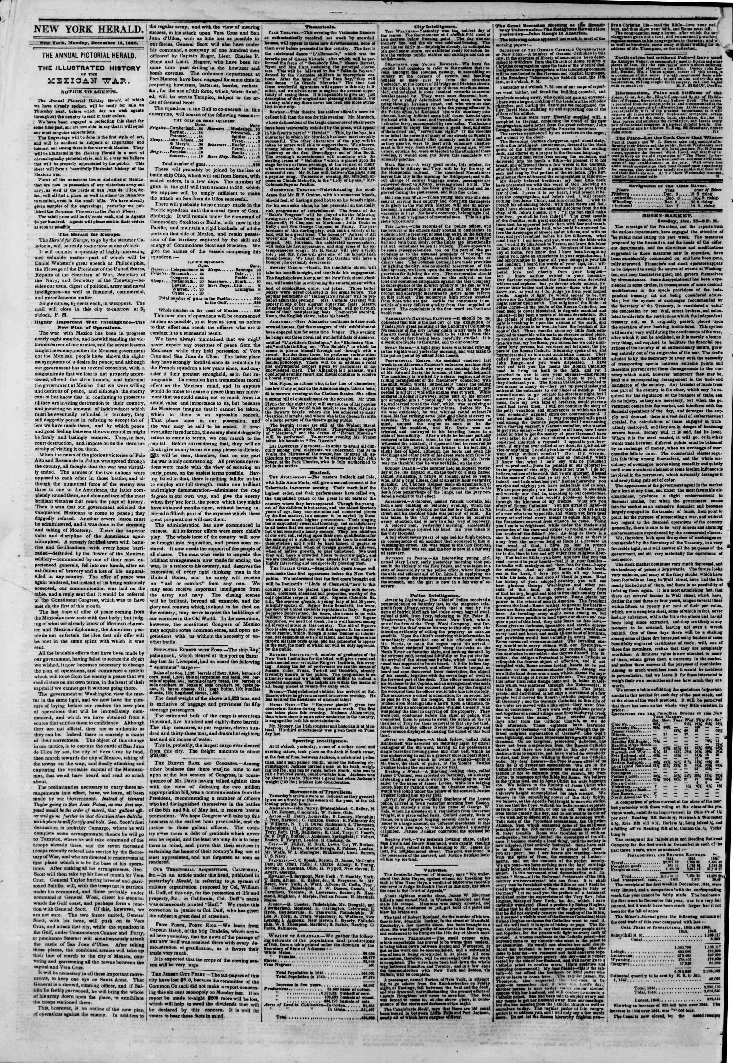 Newspaper of The New York Herald dated December 14, 1846 Page 2