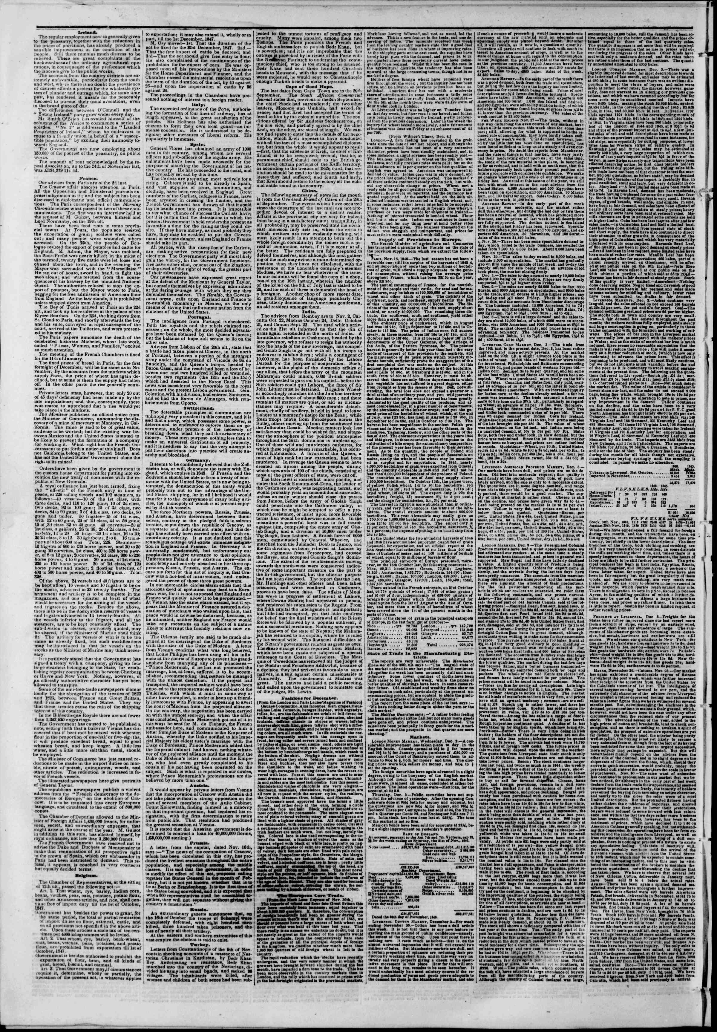 Newspaper of The New York Herald dated December 19, 1846 Page 2