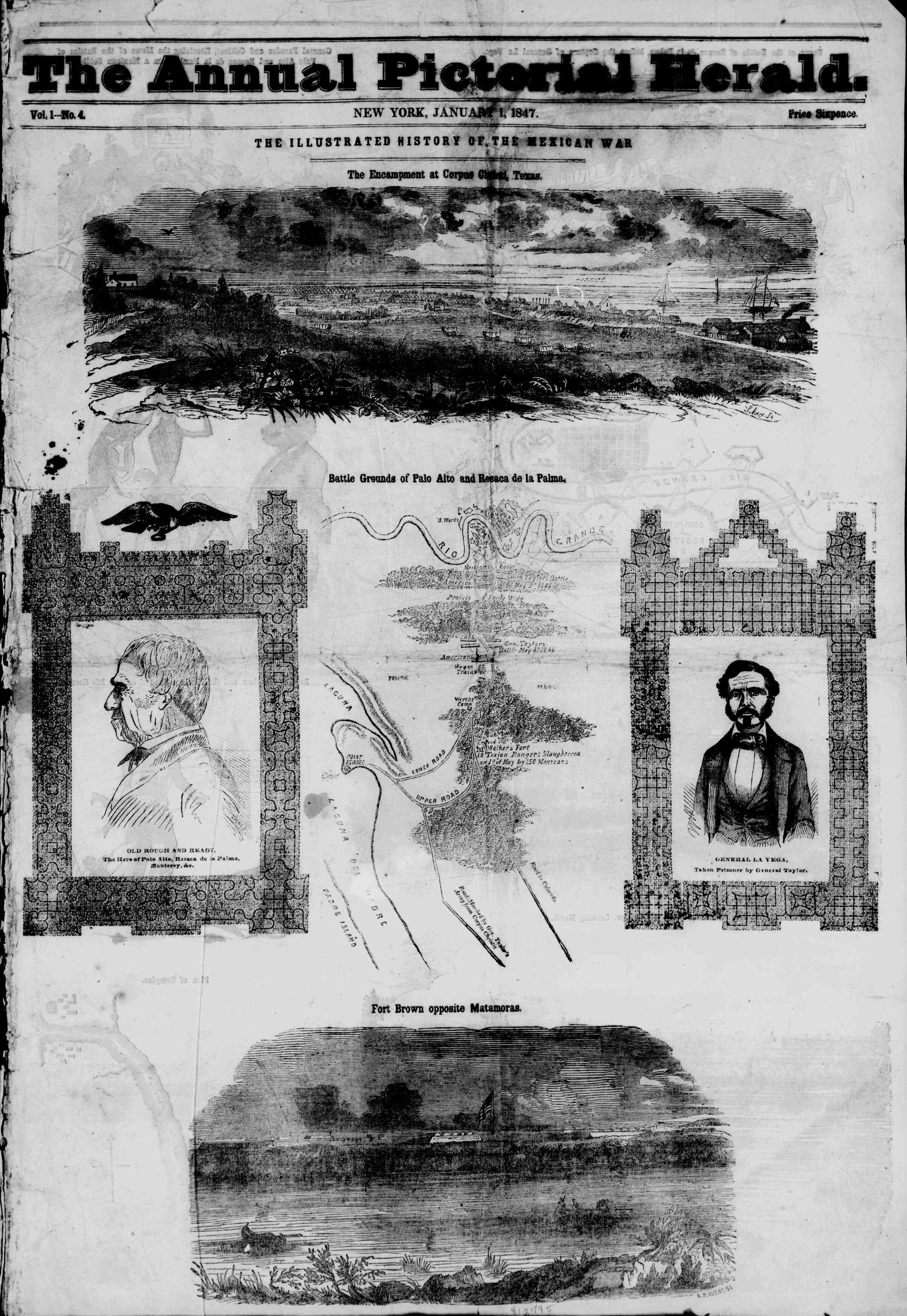 Newspaper of The New York Herald dated January 1, 1847 Page 5