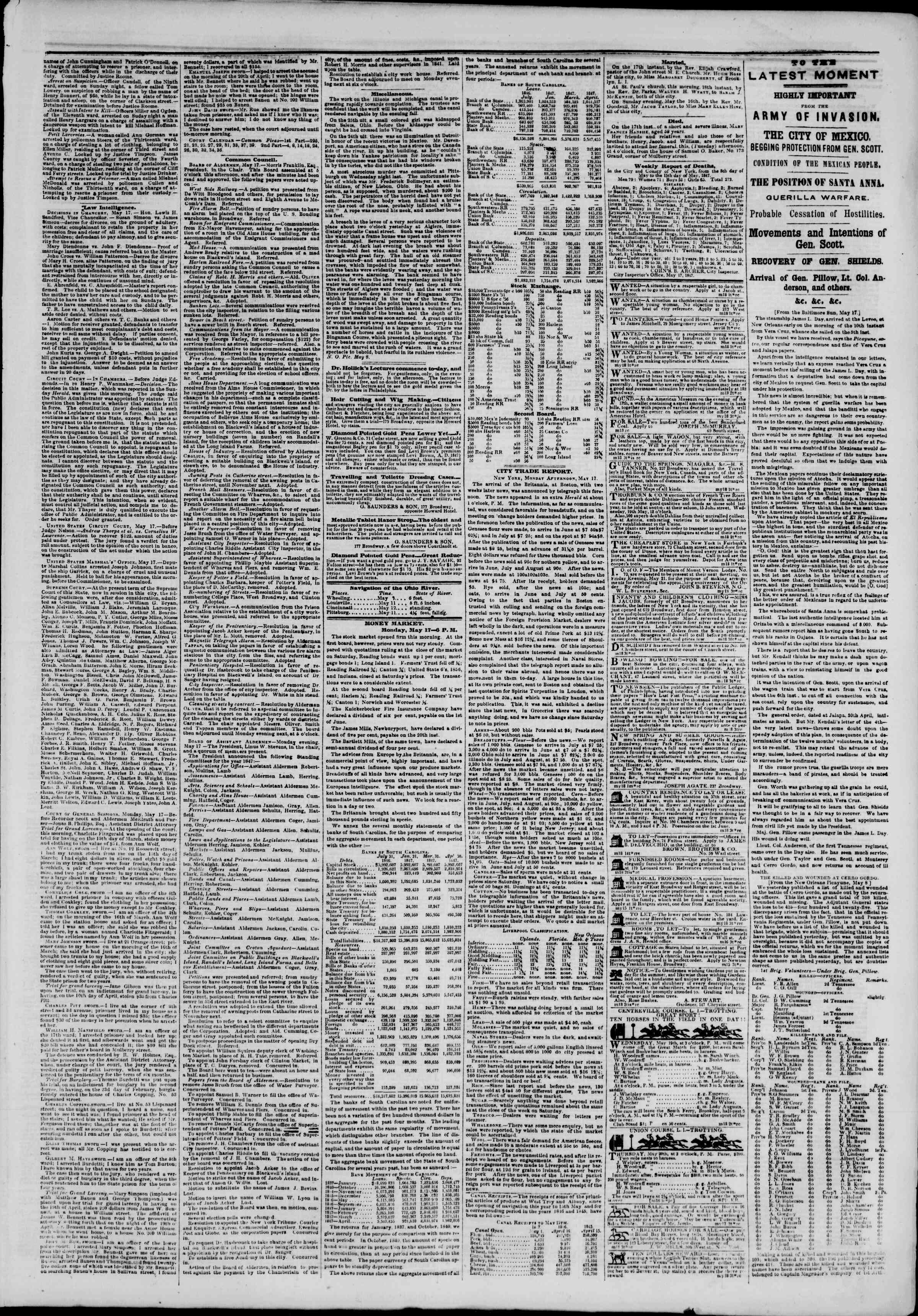 Newspaper of The New York Herald dated May 18, 1847 Page 3