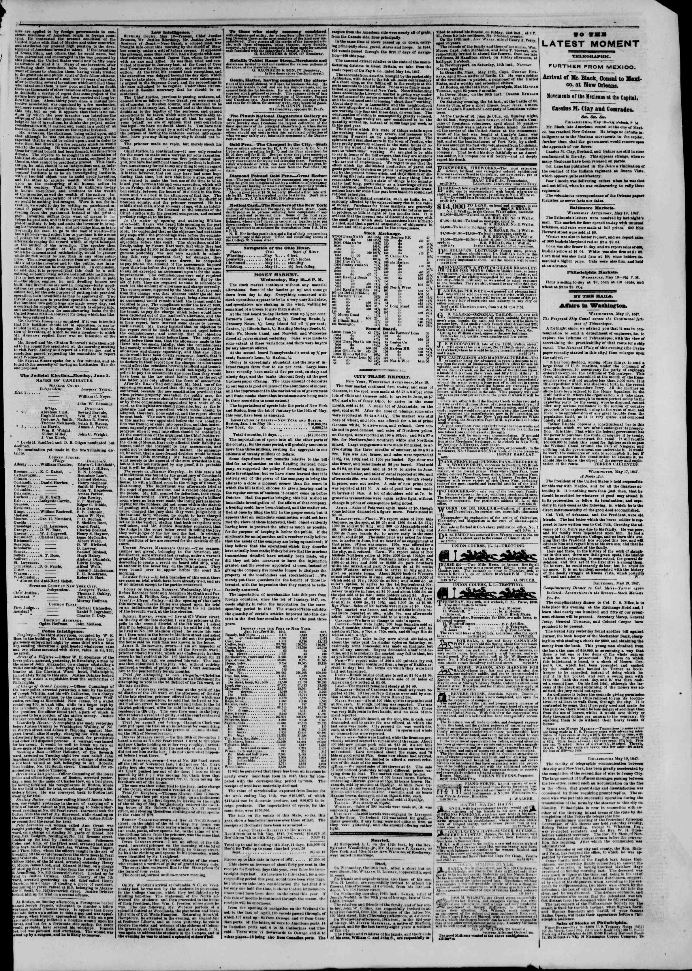 Newspaper of The New York Herald dated May 20, 1847 Page 3