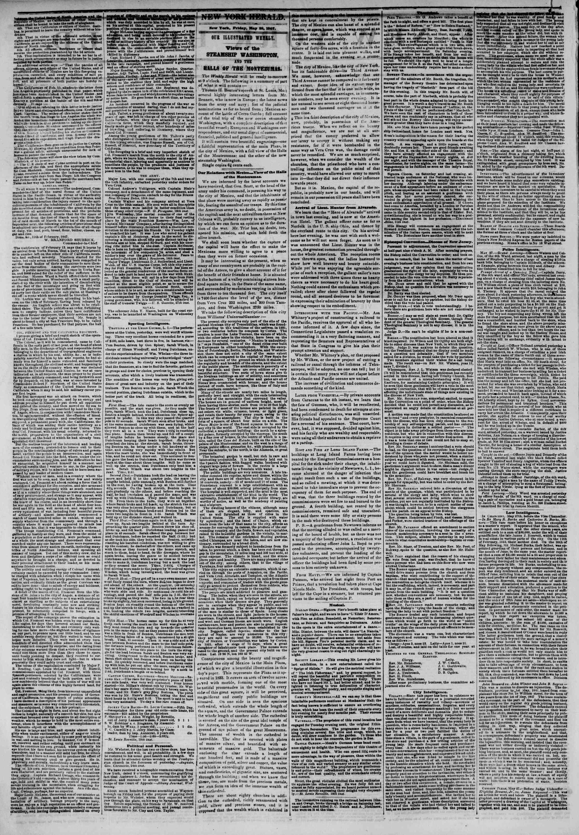 Newspaper of The New York Herald dated May 28, 1847 Page 2
