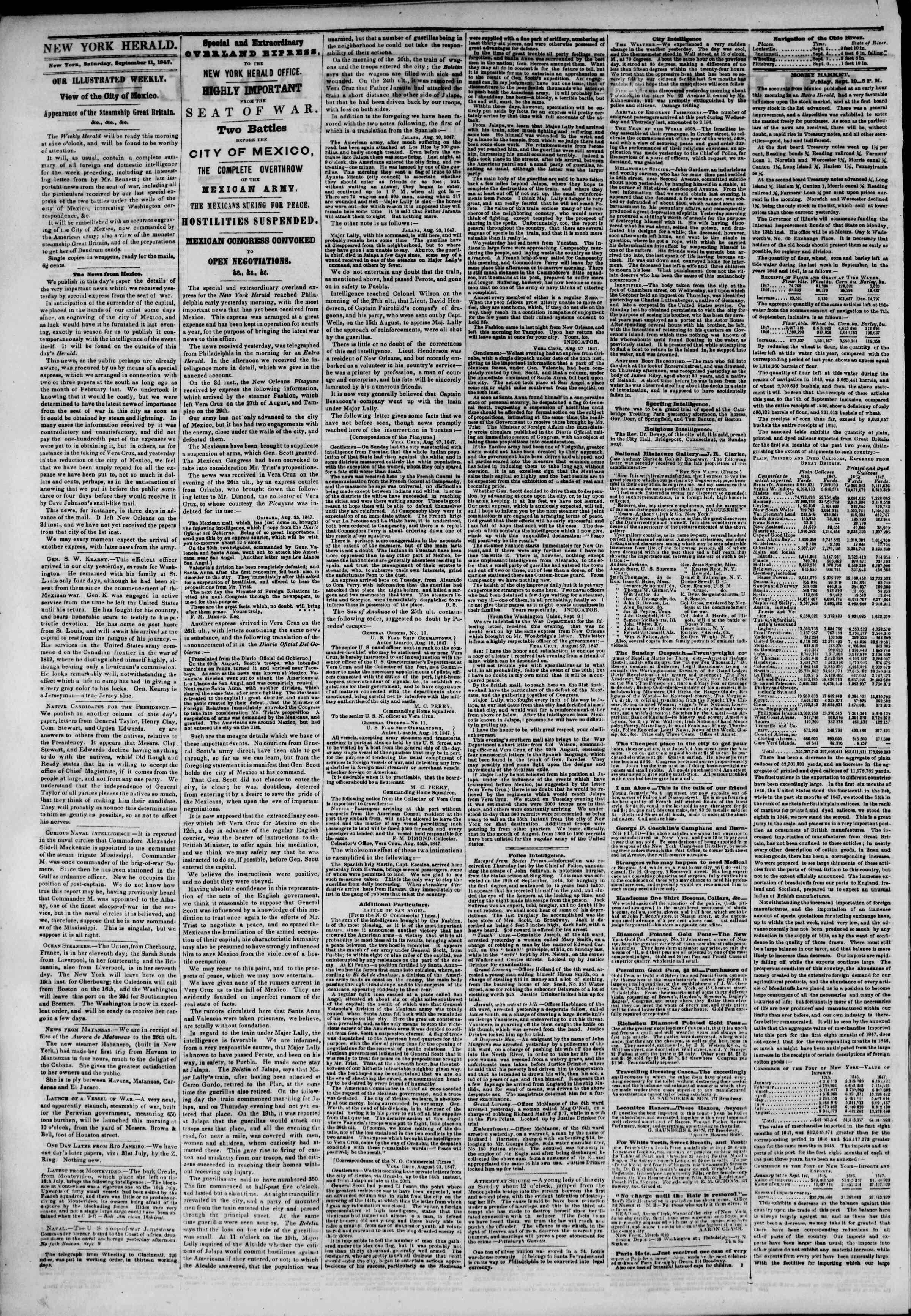 Newspaper of The New York Herald dated September 11, 1847 Page 2