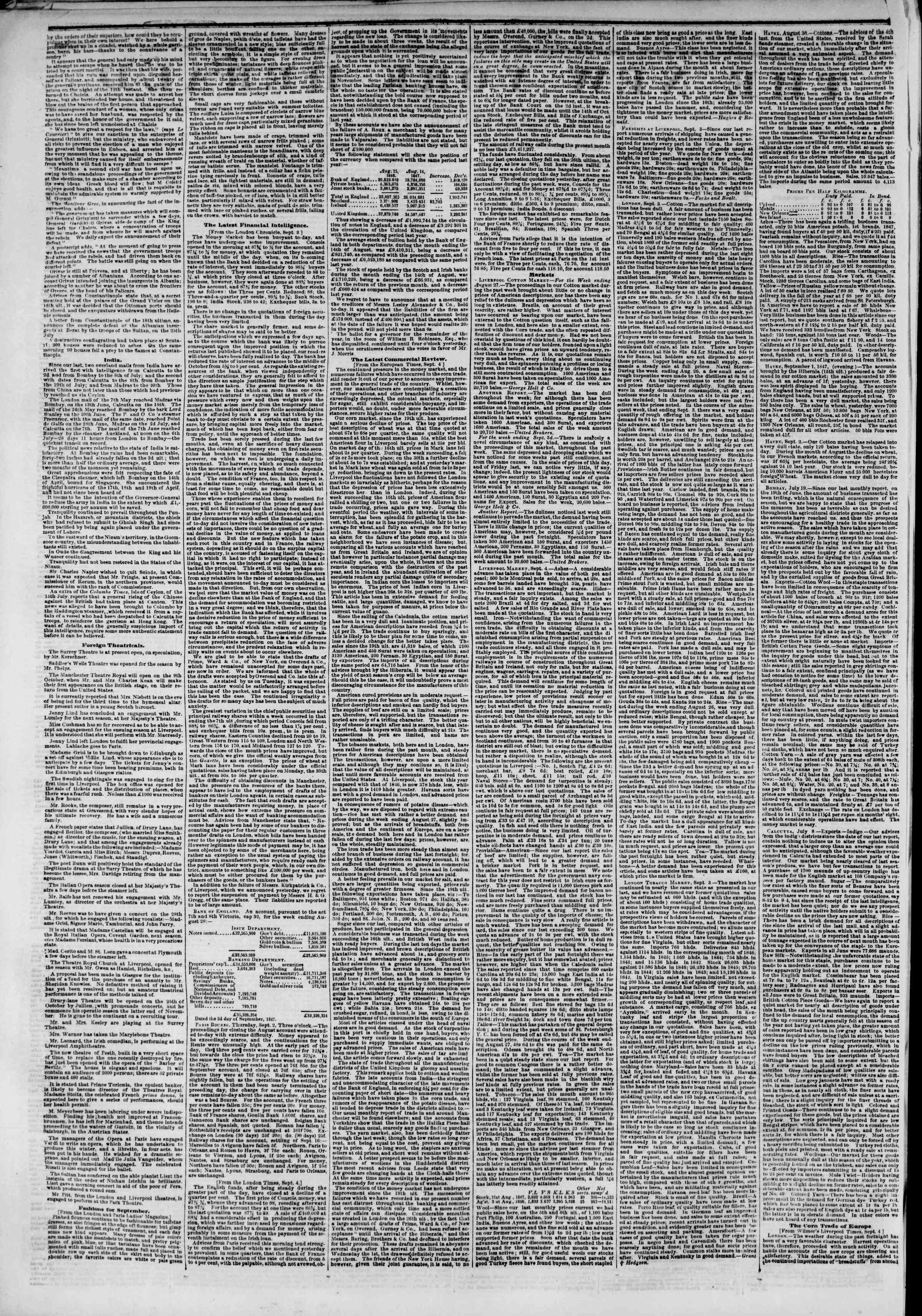 Newspaper of The New York Herald dated September 21, 1847 Page 2