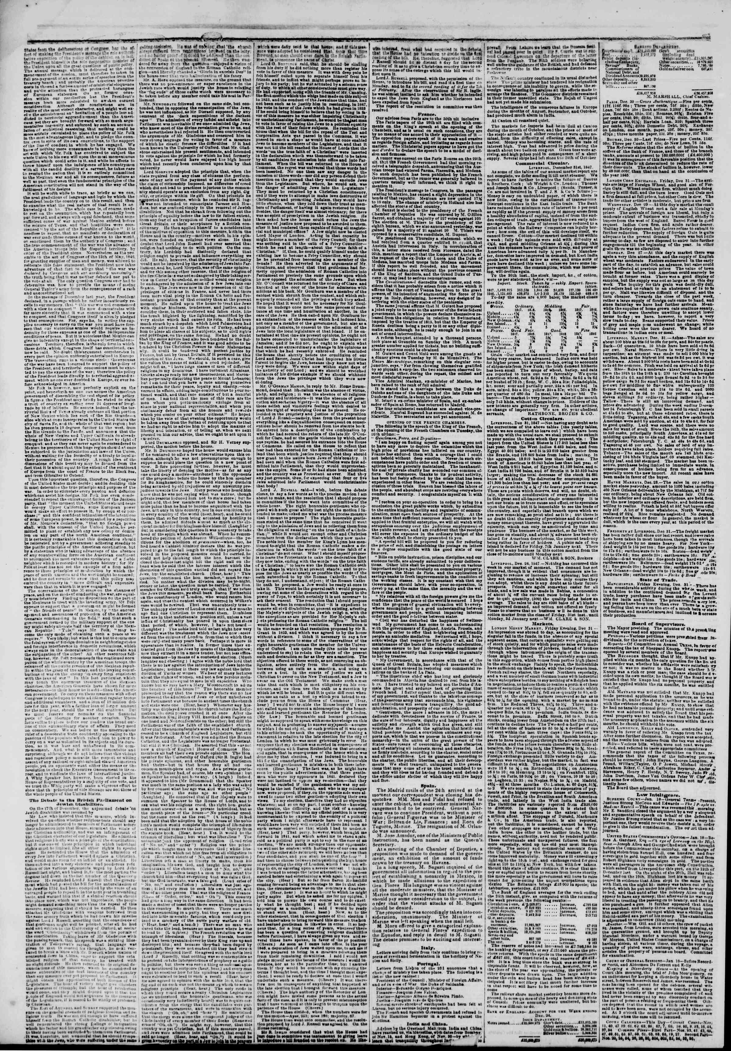 Newspaper of The New York Herald dated January 19, 1848 Page 2