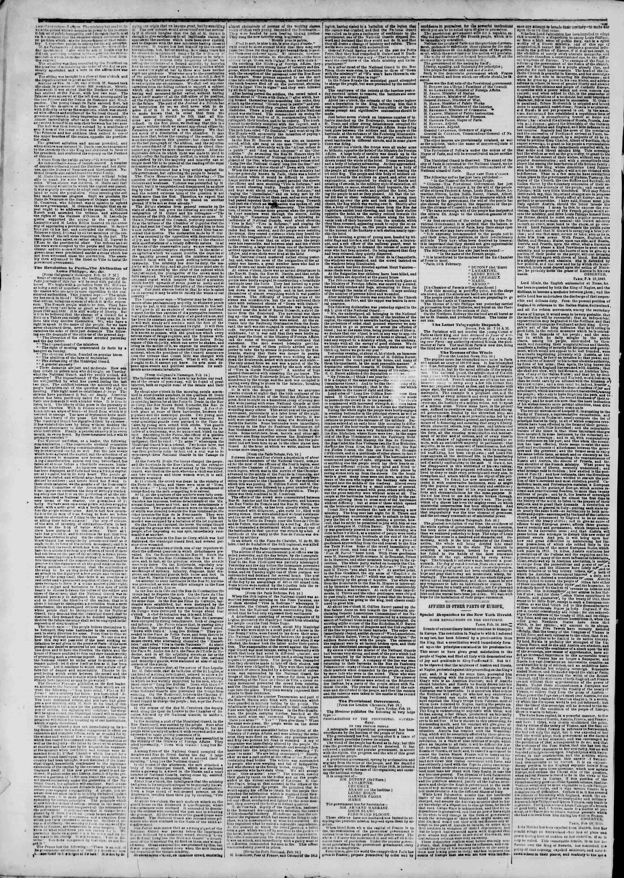 Newspaper of The New York Herald dated March 19, 1848 Page 2