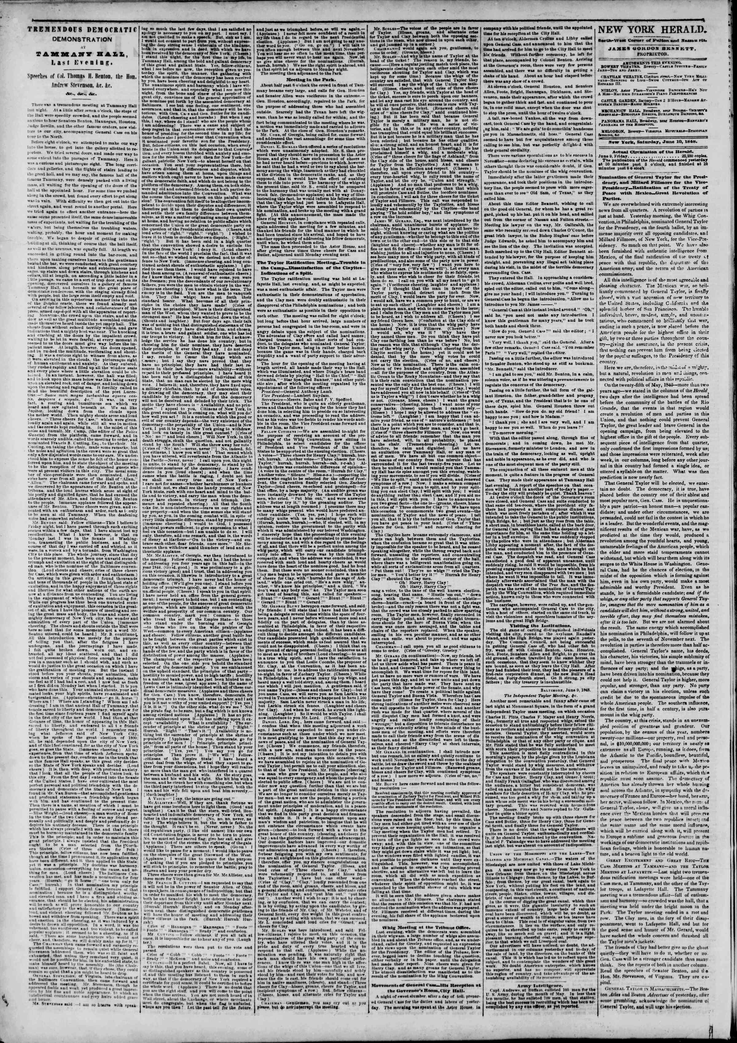 Newspaper of The New York Herald dated June 10, 1848 Page 2