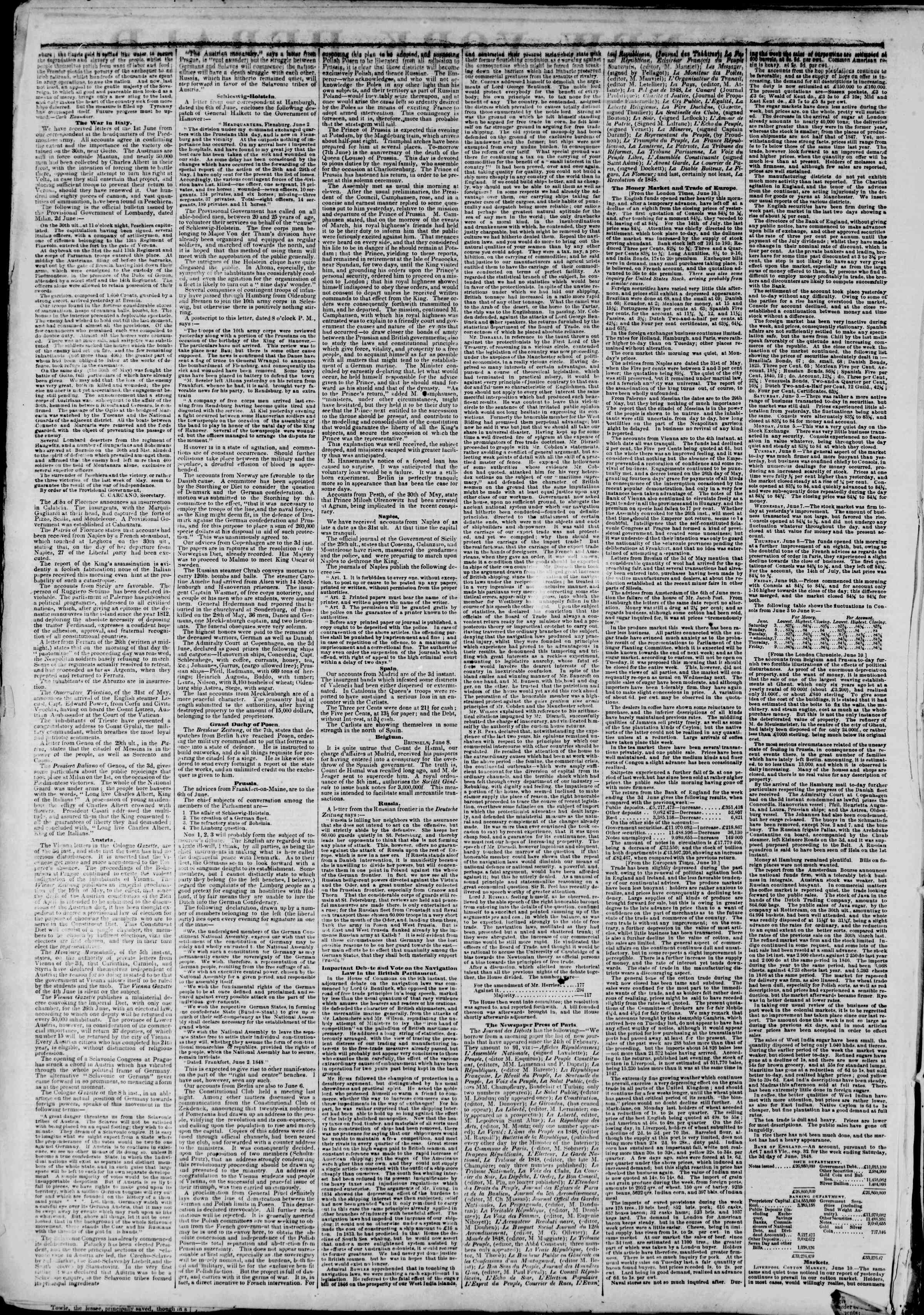 Newspaper of The New York Herald dated June 27, 1848 Page 2