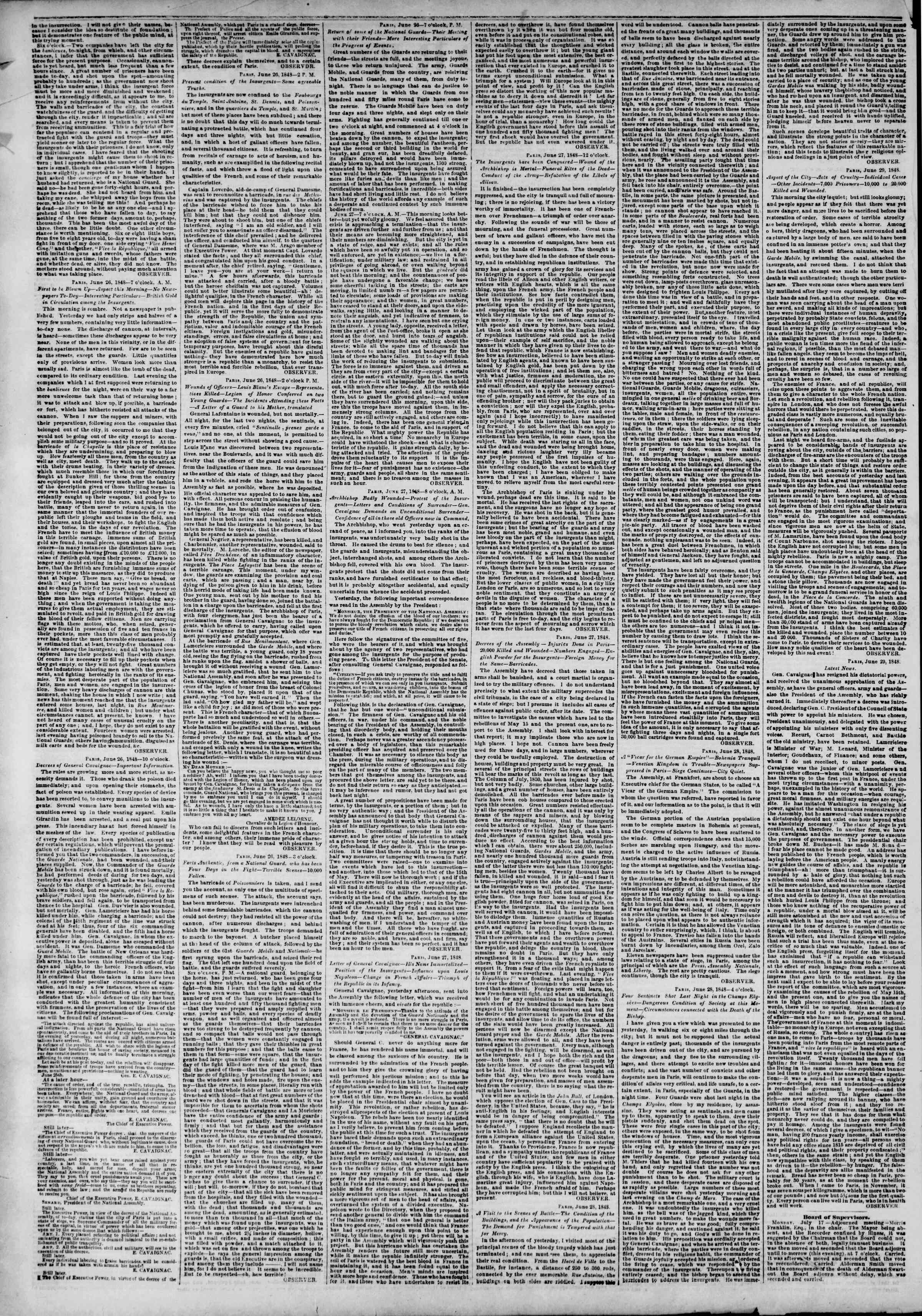 Newspaper of The New York Herald dated July 18, 1848 Page 2