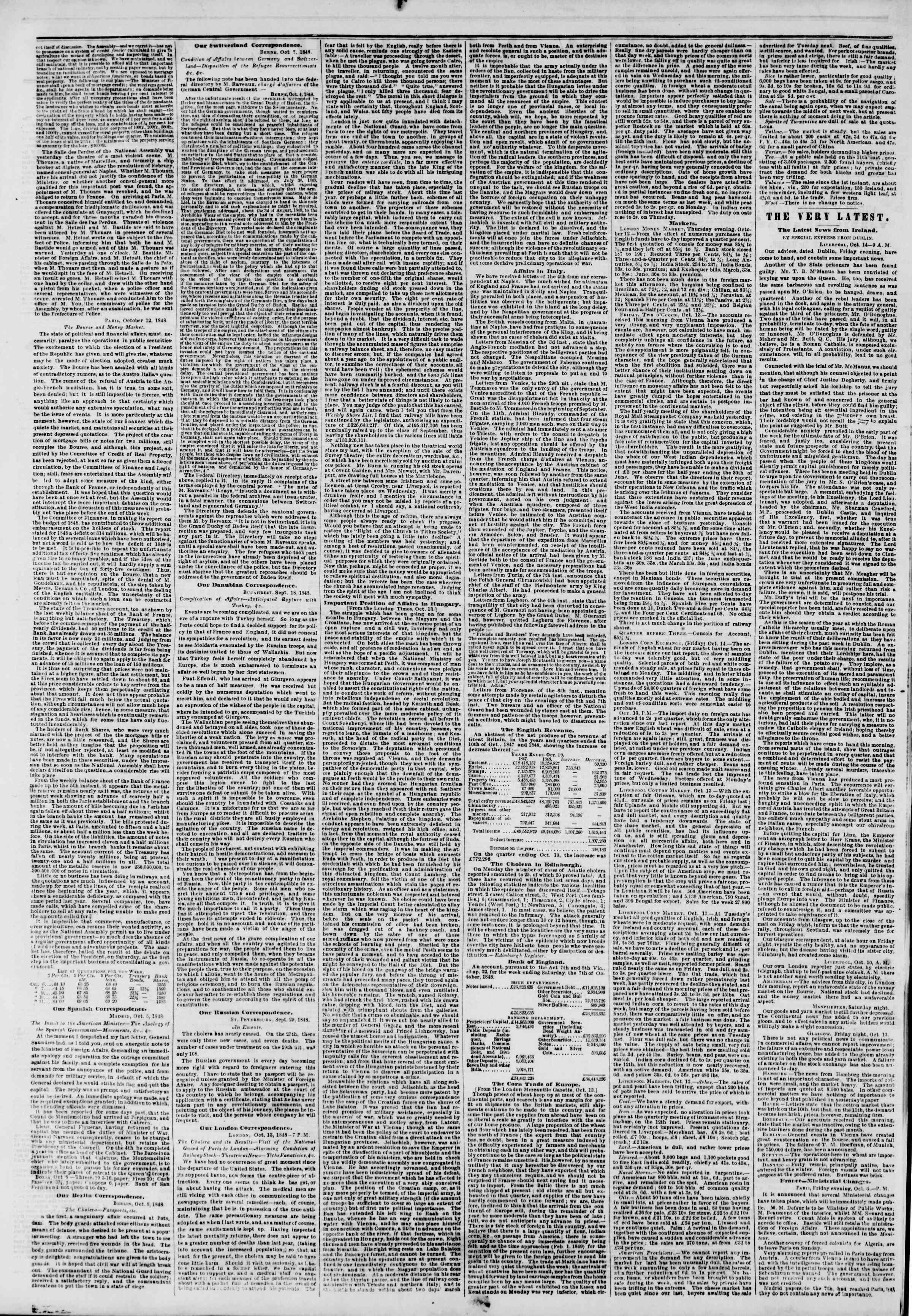 Newspaper of The New York Herald dated October 26, 1848 Page 2