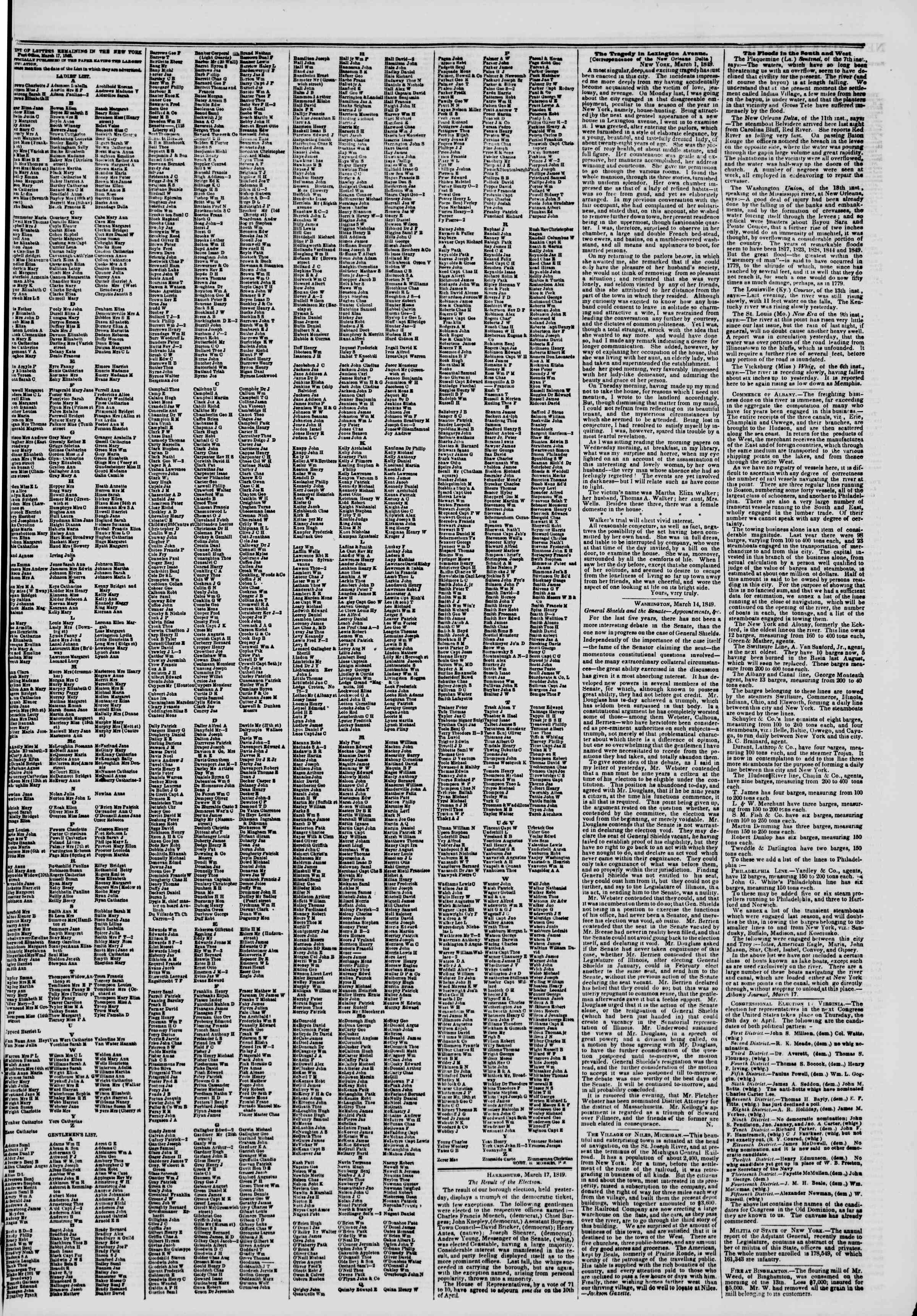 Newspaper of The New York Herald dated March 20, 1849 Page 3