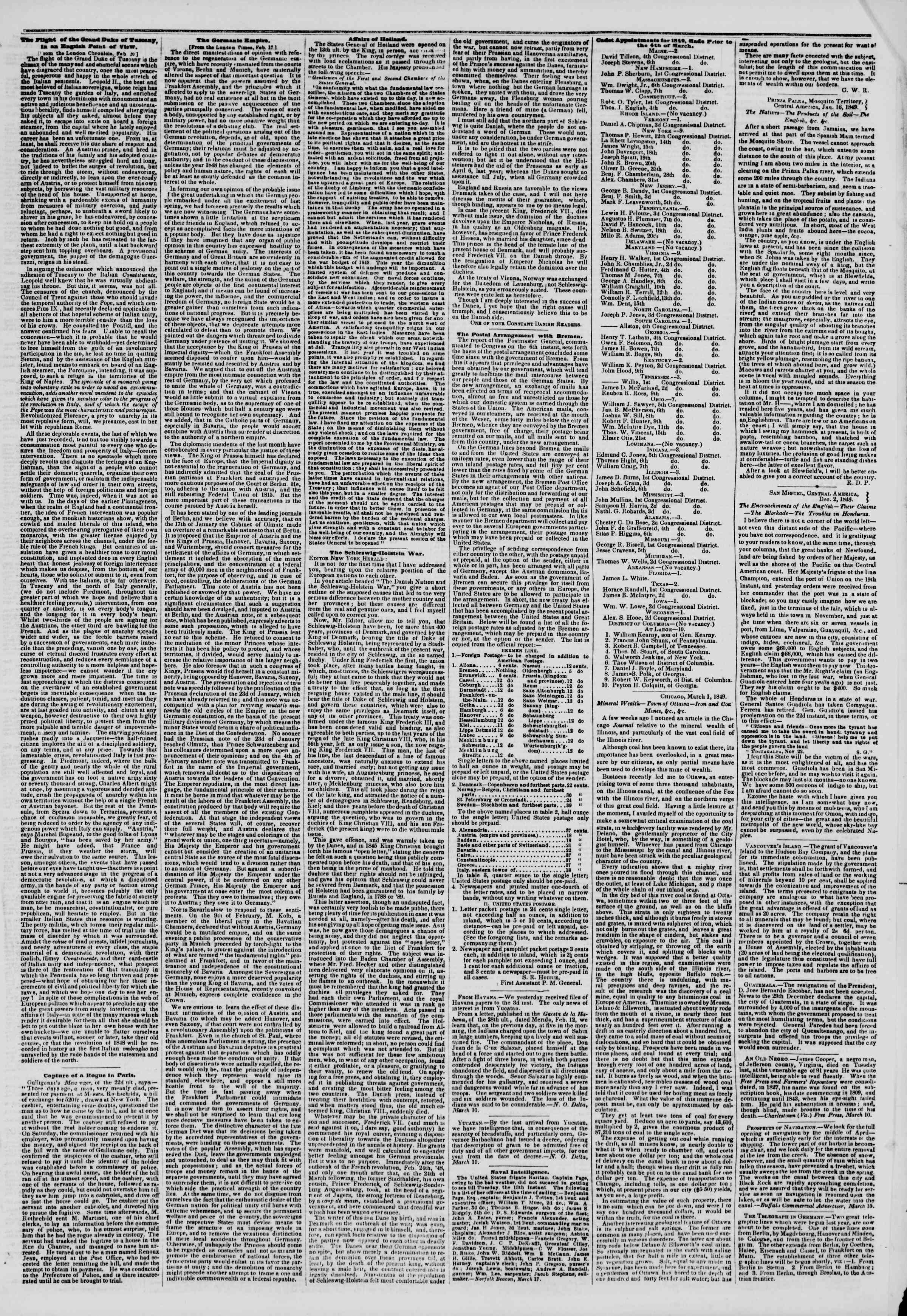 Newspaper of The New York Herald dated March 20, 1849 Page 7