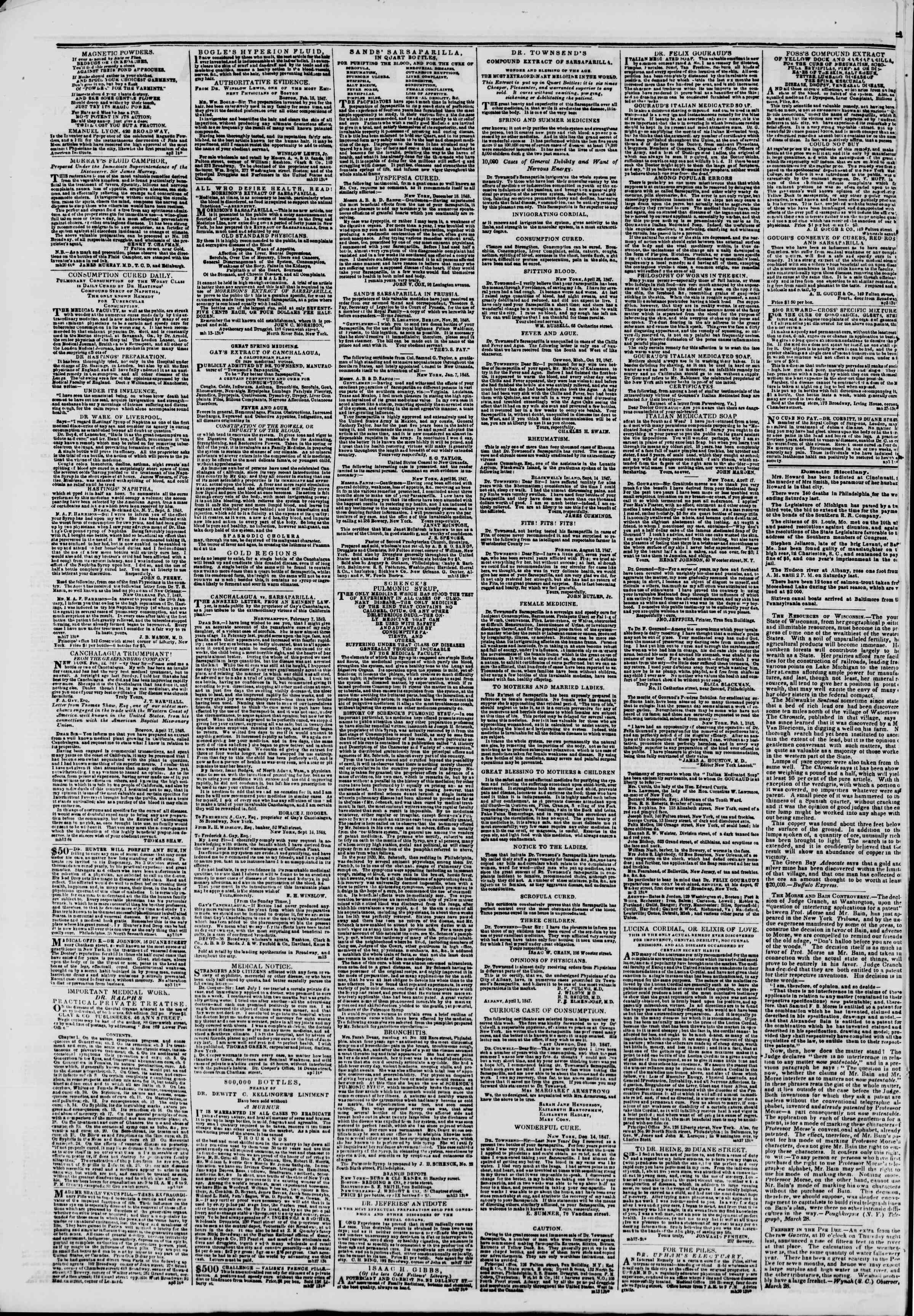 Newspaper of The New York Herald dated April 3, 1849 Page 2