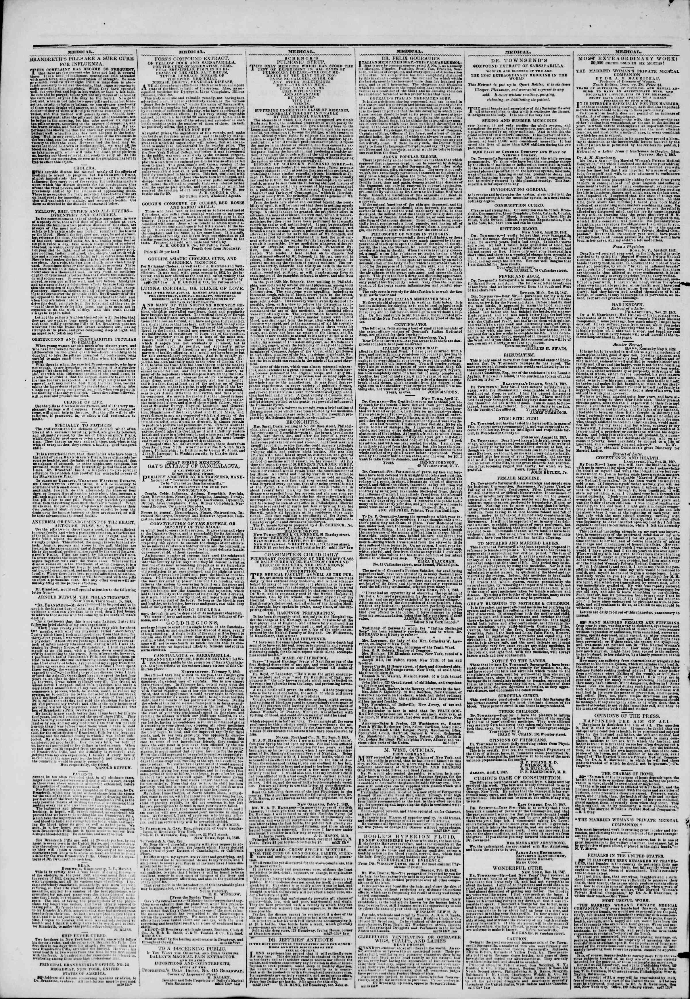 Newspaper of The New York Herald dated May 1, 1849 Page 2