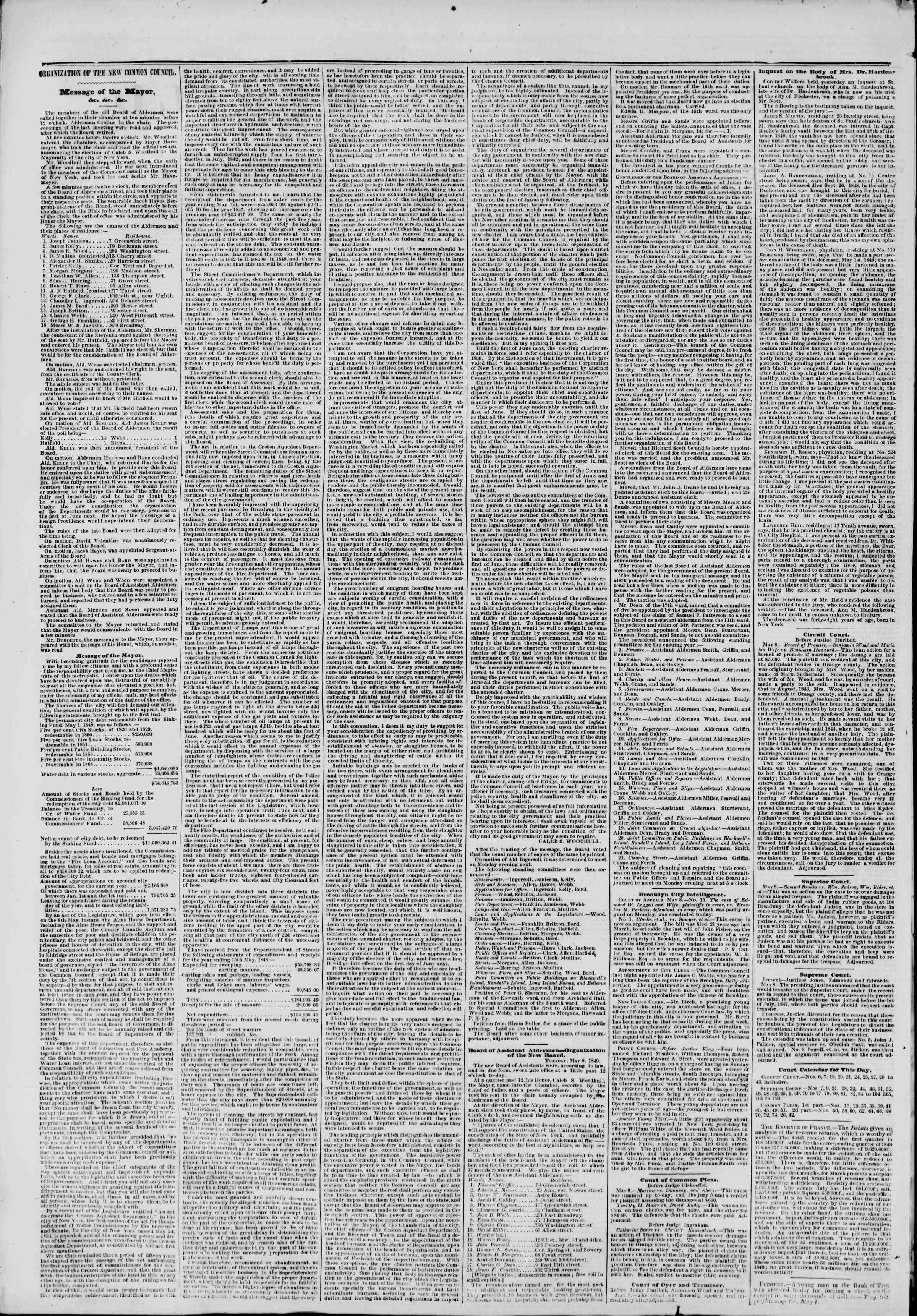 Newspaper of The New York Herald dated May 9, 1849 Page 2