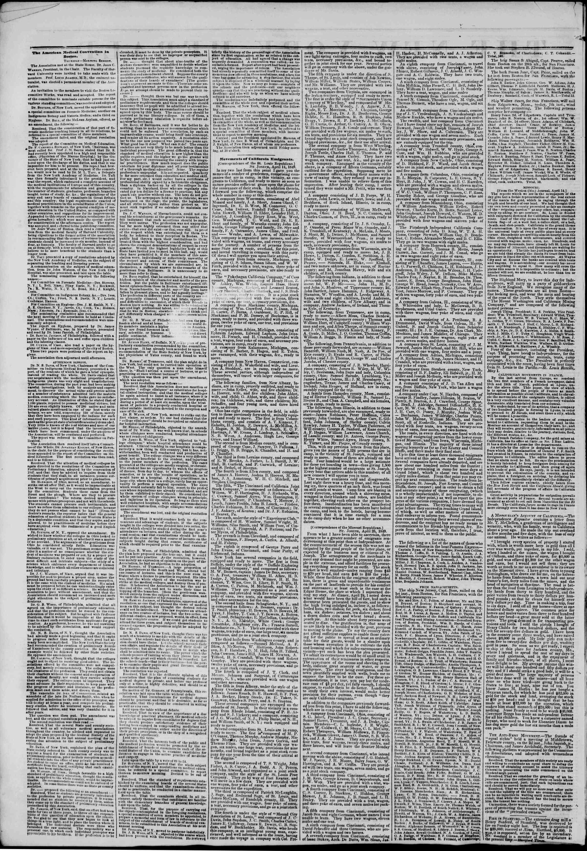 Newspaper of The New York Herald dated May 11, 1849 Page 2