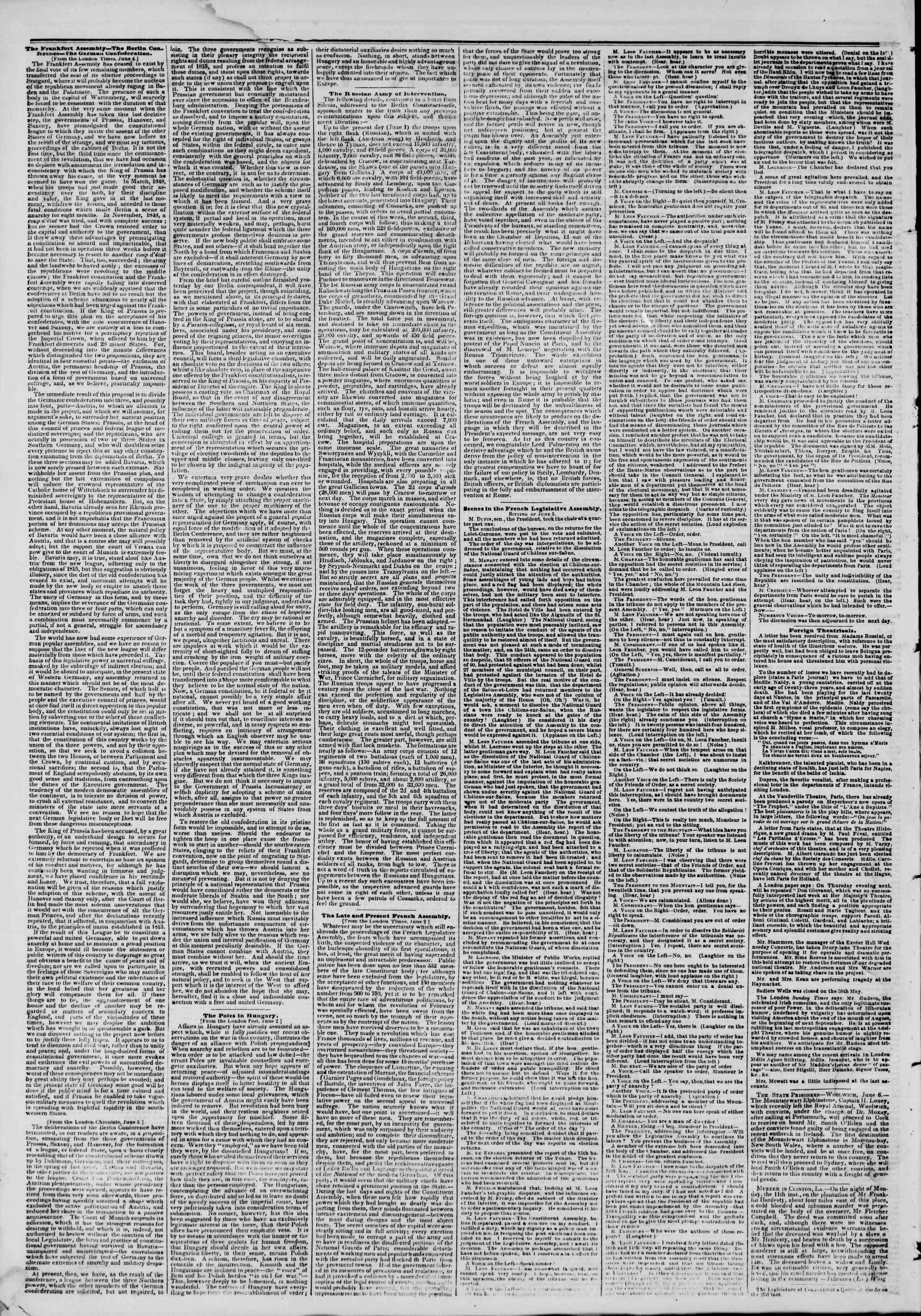 Newspaper of The New York Herald dated June 26, 1849 Page 2
