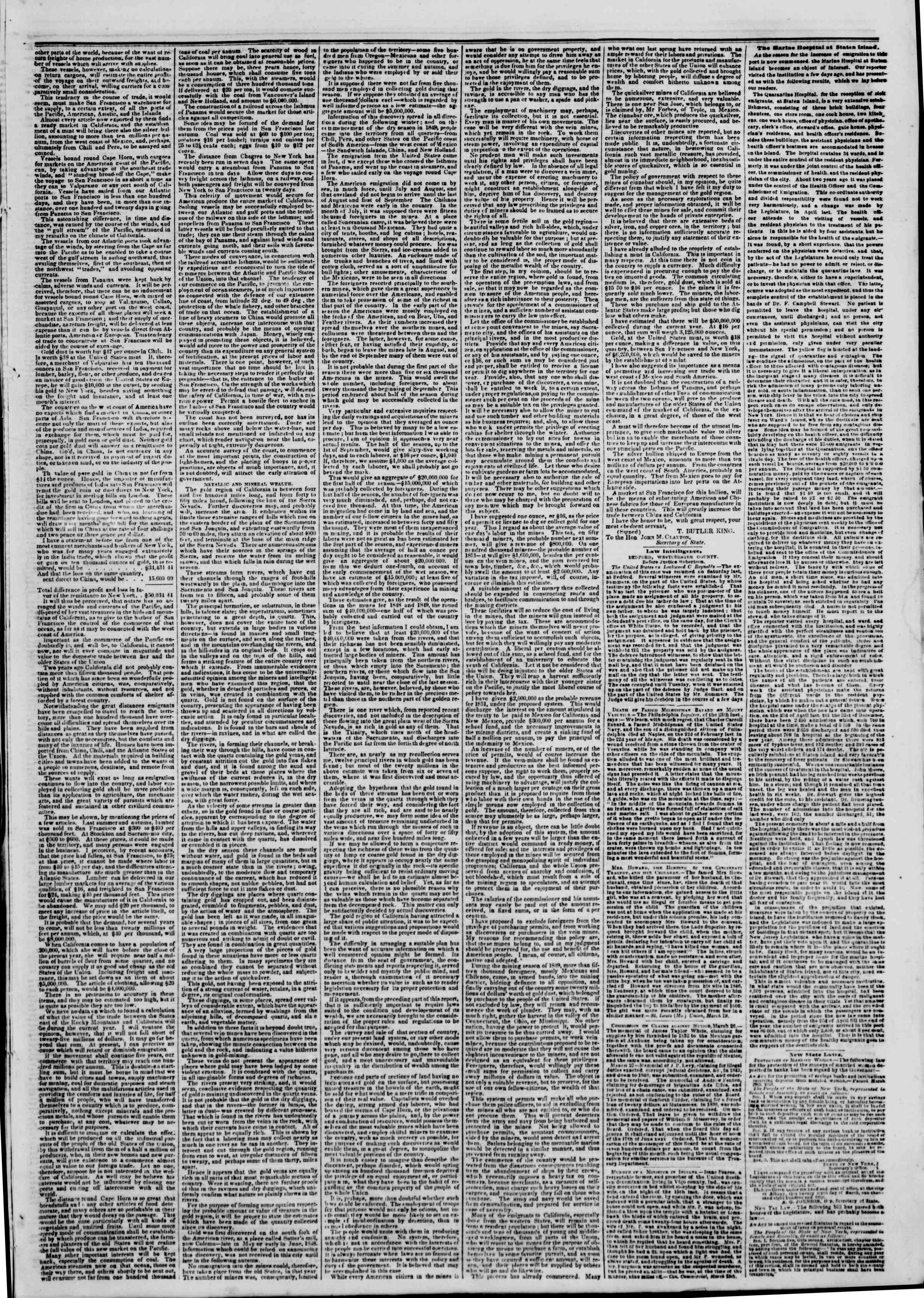 Newspaper of The New York Herald dated April 1, 1850 Page 3