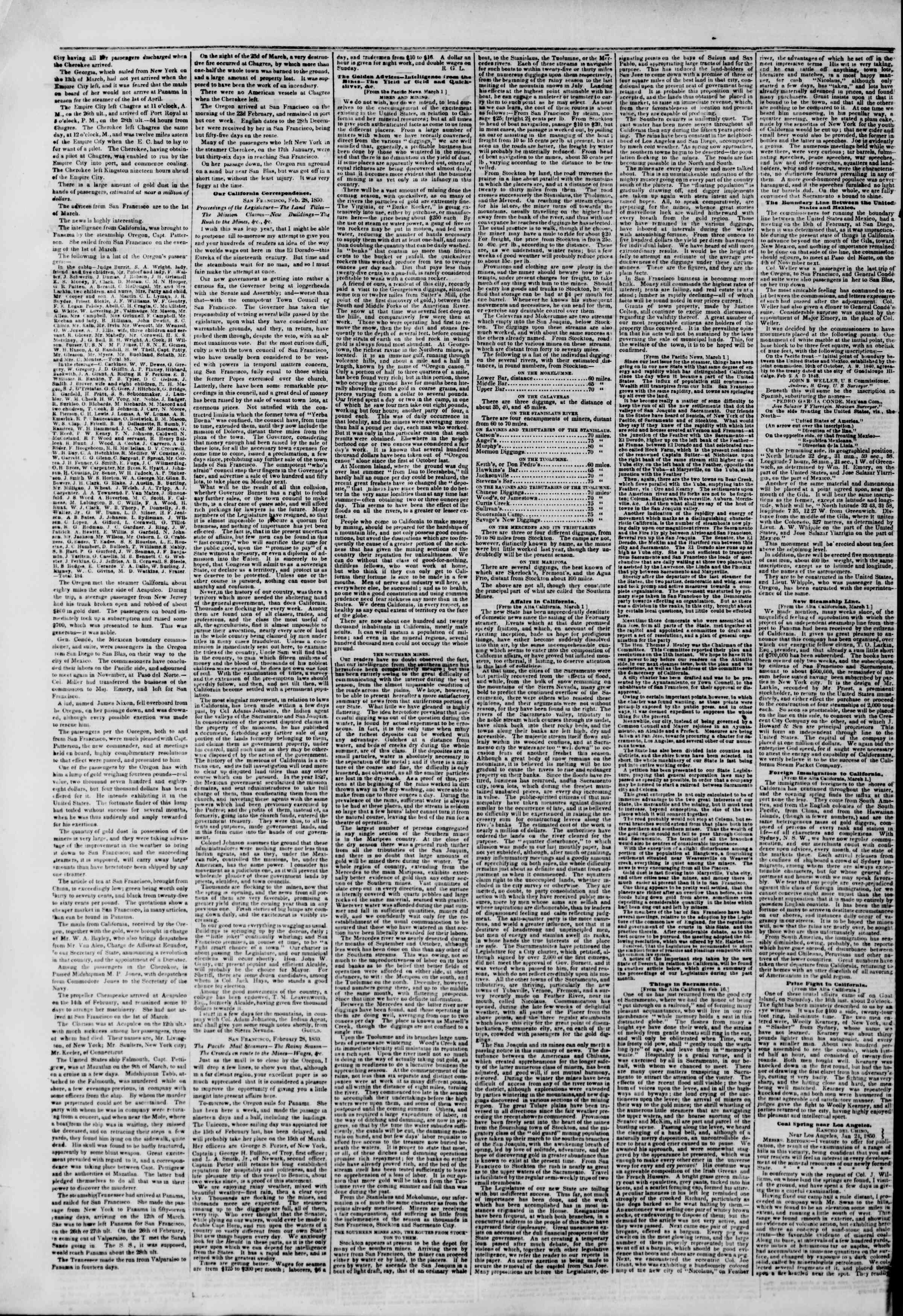 Newspaper of The New York Herald dated April 6, 1850 Page 2