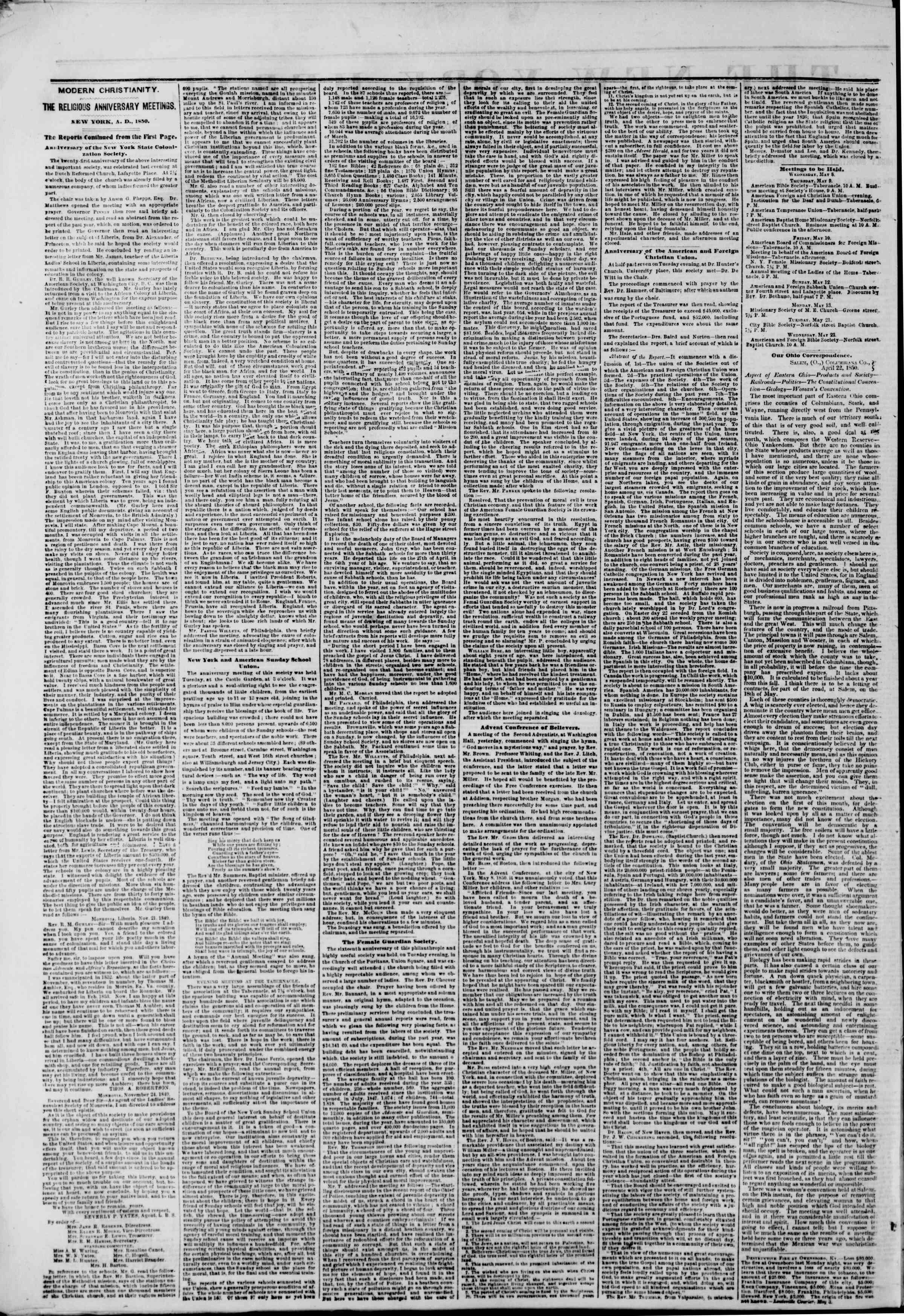 Newspaper of The New York Herald dated May 9, 1850 Page 2