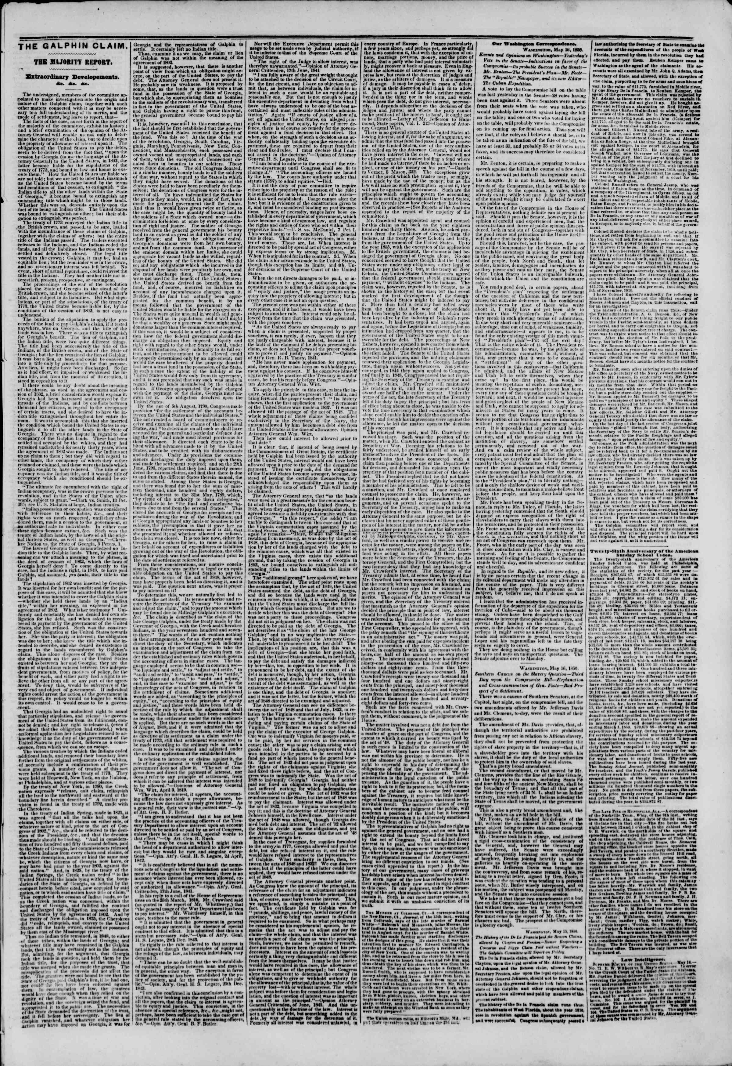 Newspaper of The New York Herald dated May 18, 1850 Page 3