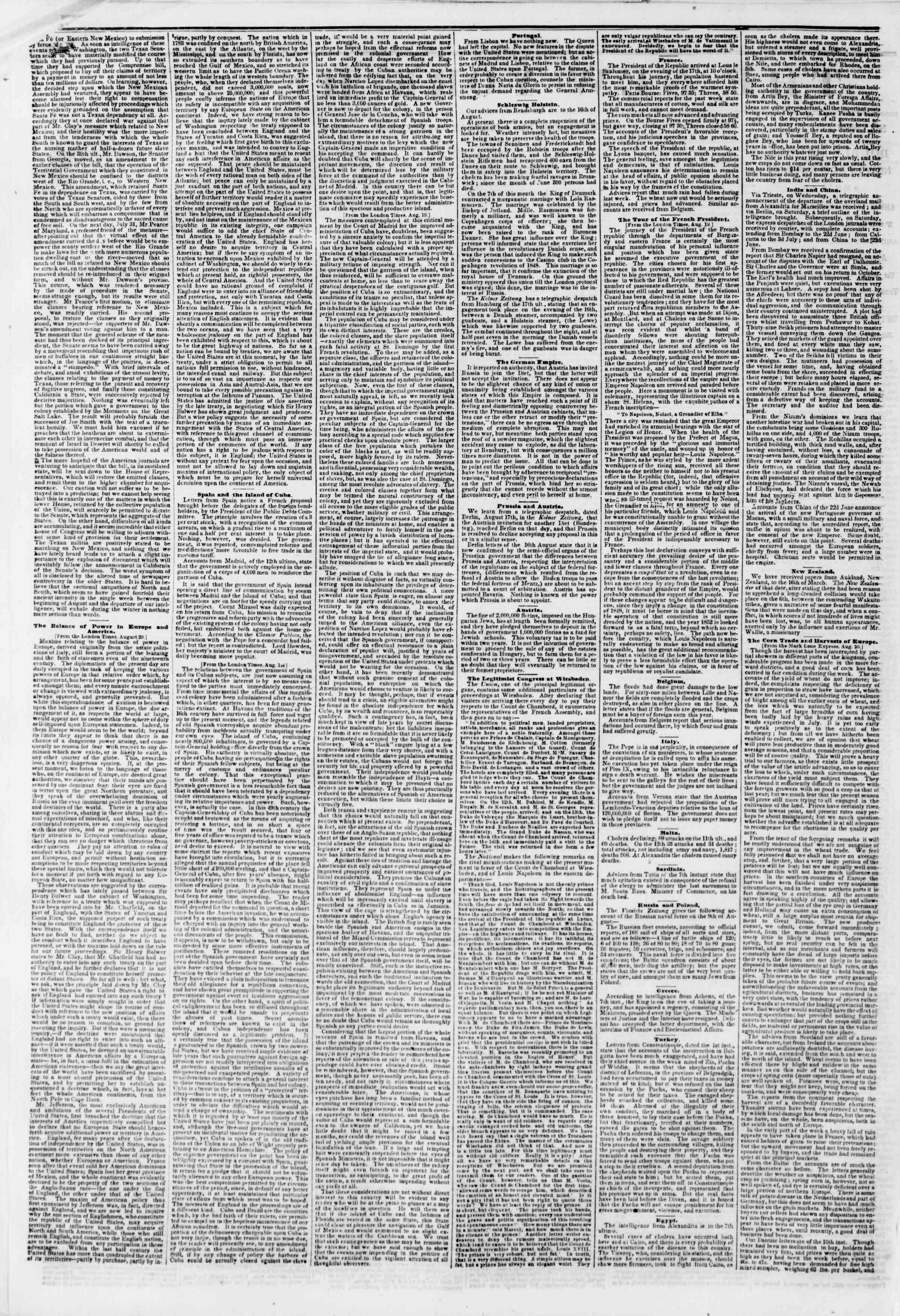 Newspaper of The New York Herald dated September 2, 1850 Page 2