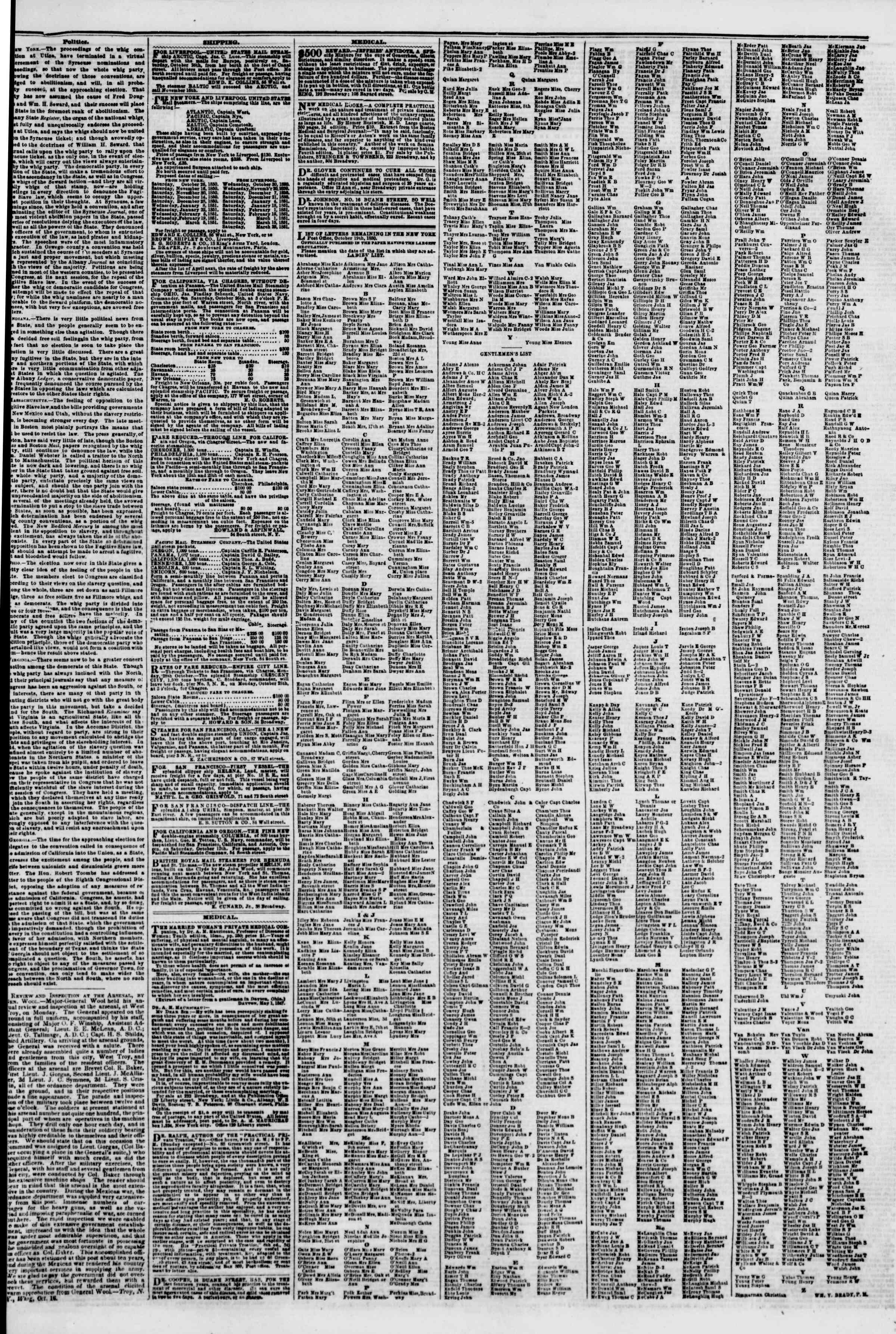 Newspaper of The New York Herald dated October 19, 1850 Page 7