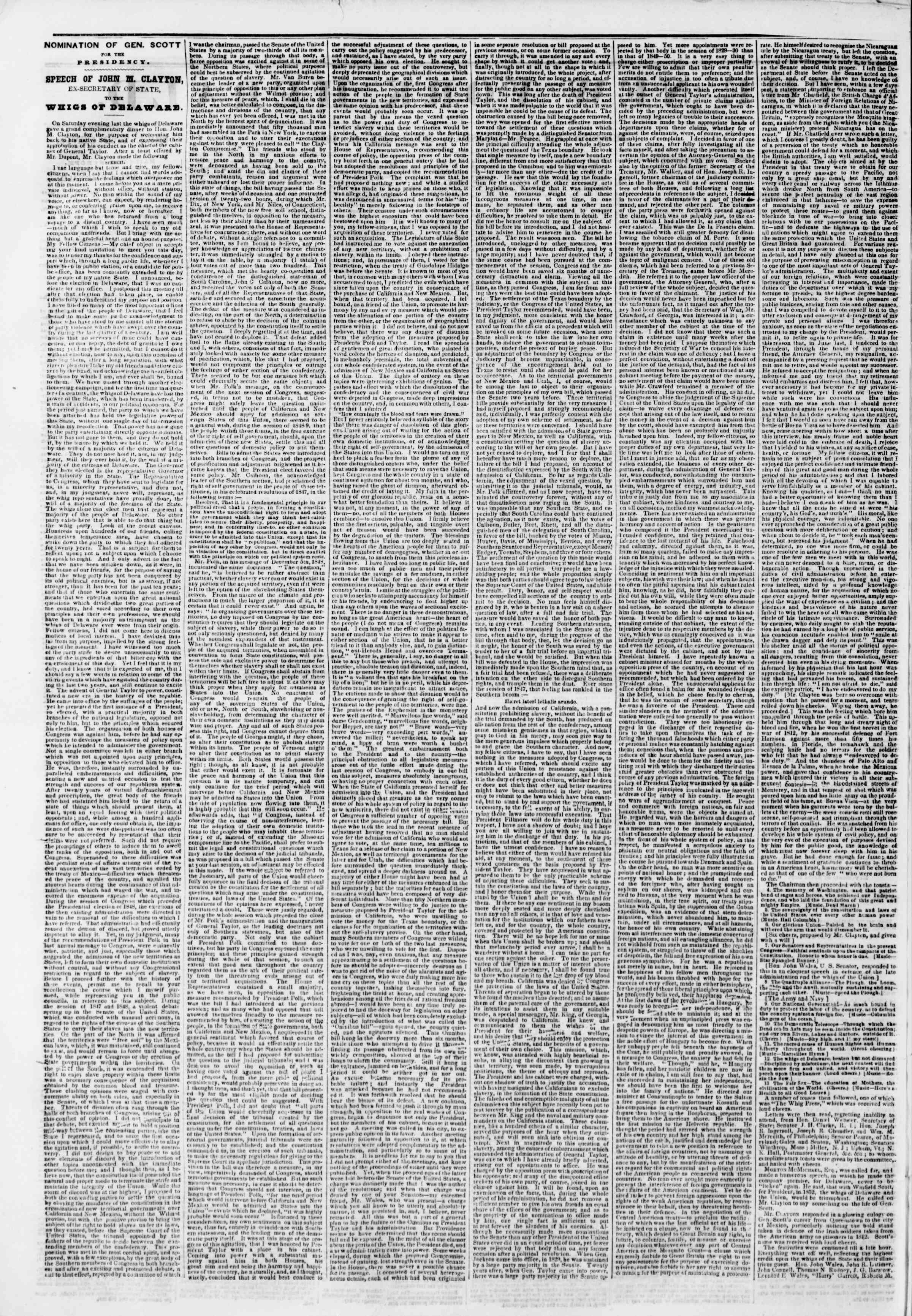 Newspaper of The New York Herald dated November 19, 1850 Page 2