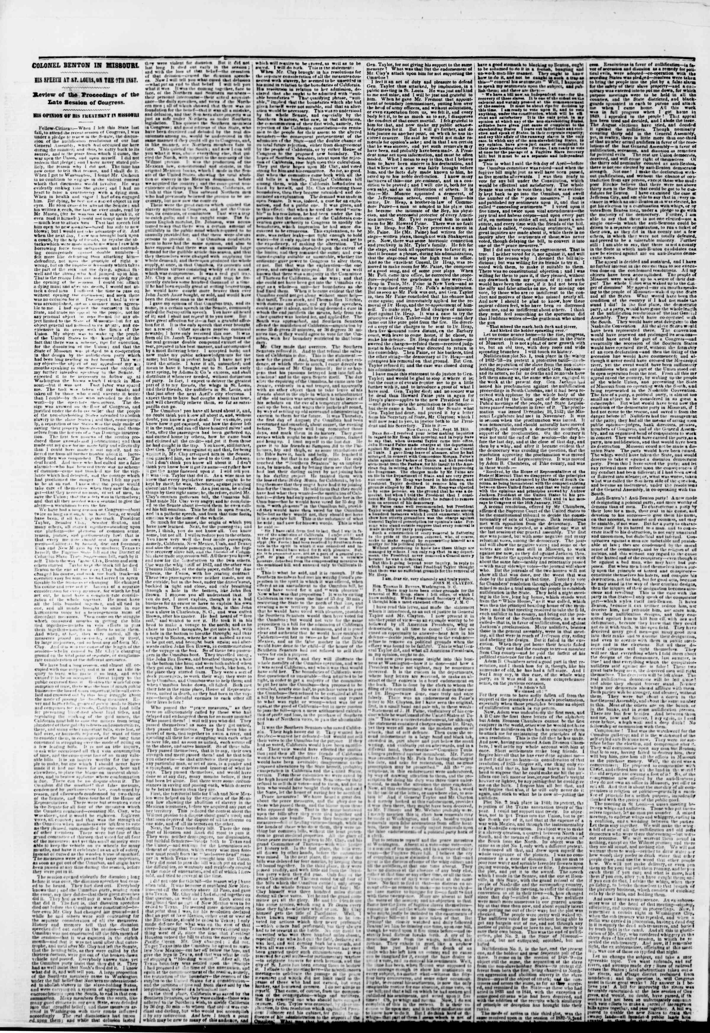 22 Kasım 1850 tarihli The New York Herald Gazetesi Sayfa 4