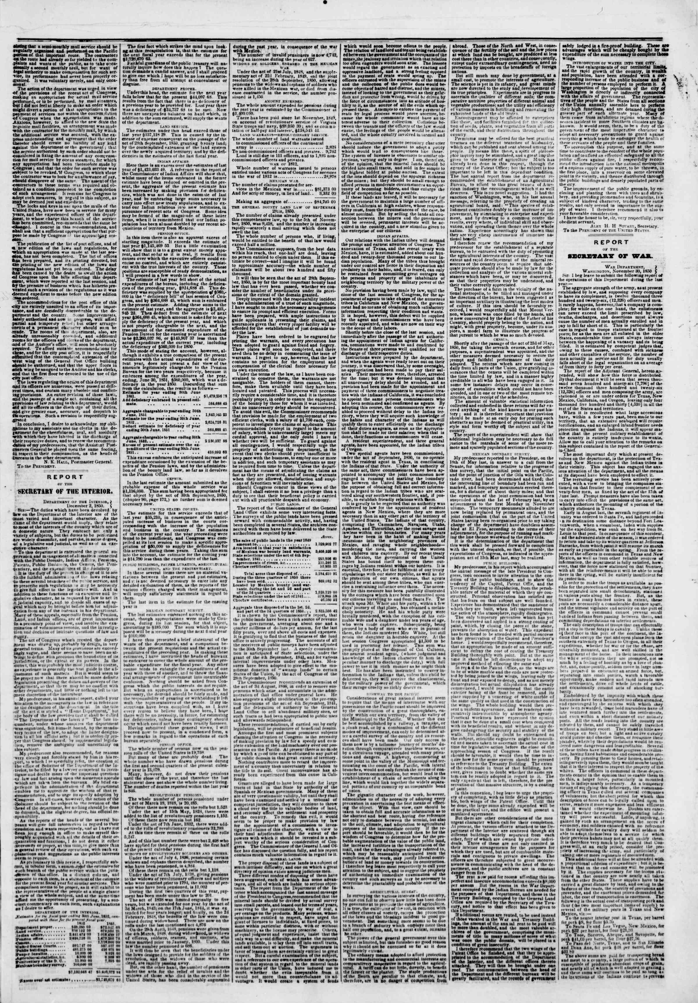 Newspaper of The New York Herald dated December 3, 1850 Page 3
