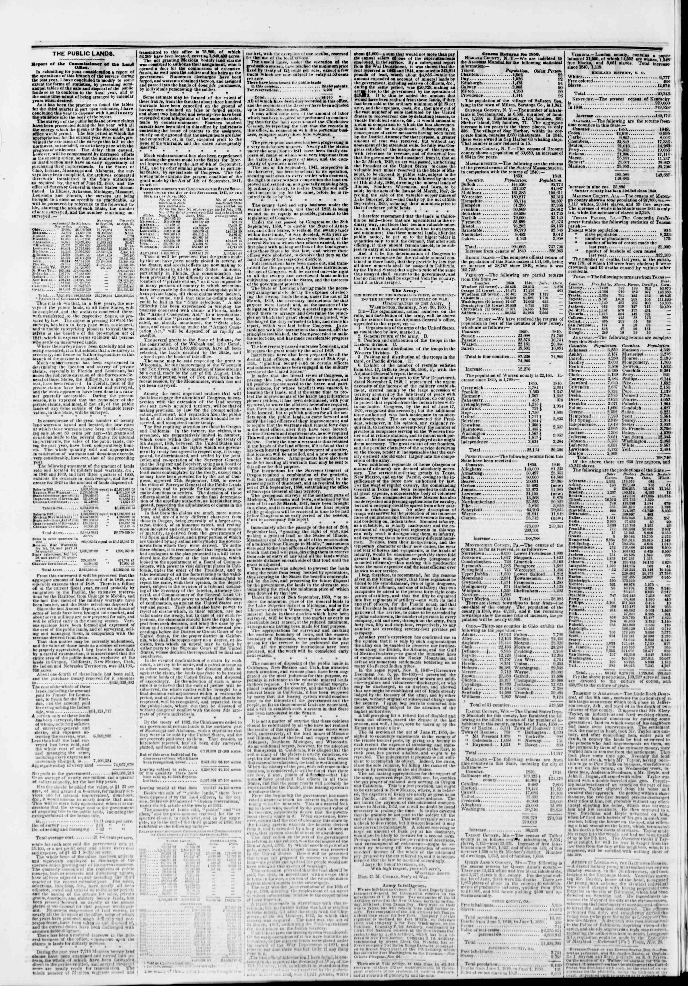 Newspaper of The New York Herald dated December 6, 1850 Page 2