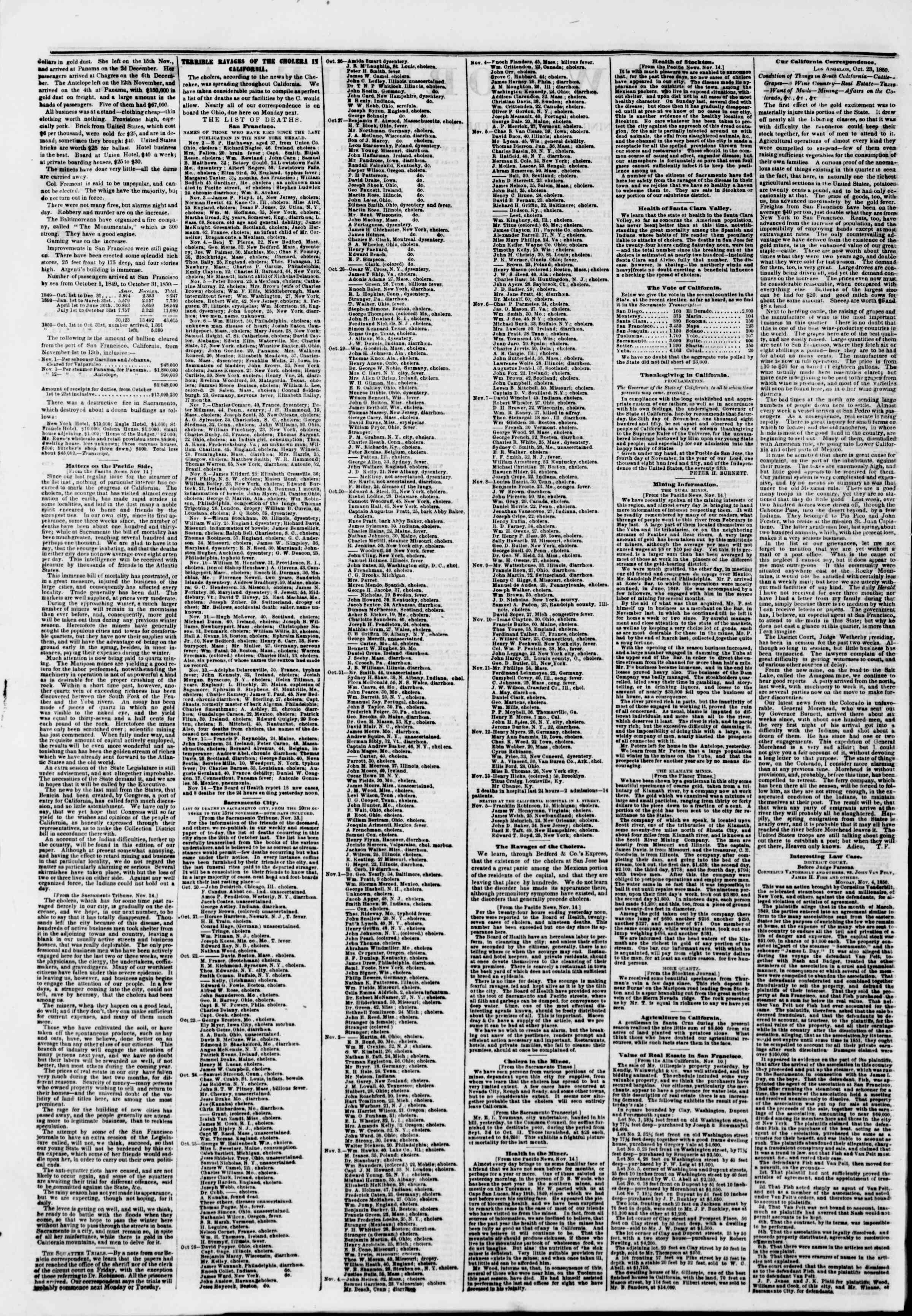 Newspaper of The New York Herald dated December 21, 1850 Page 2