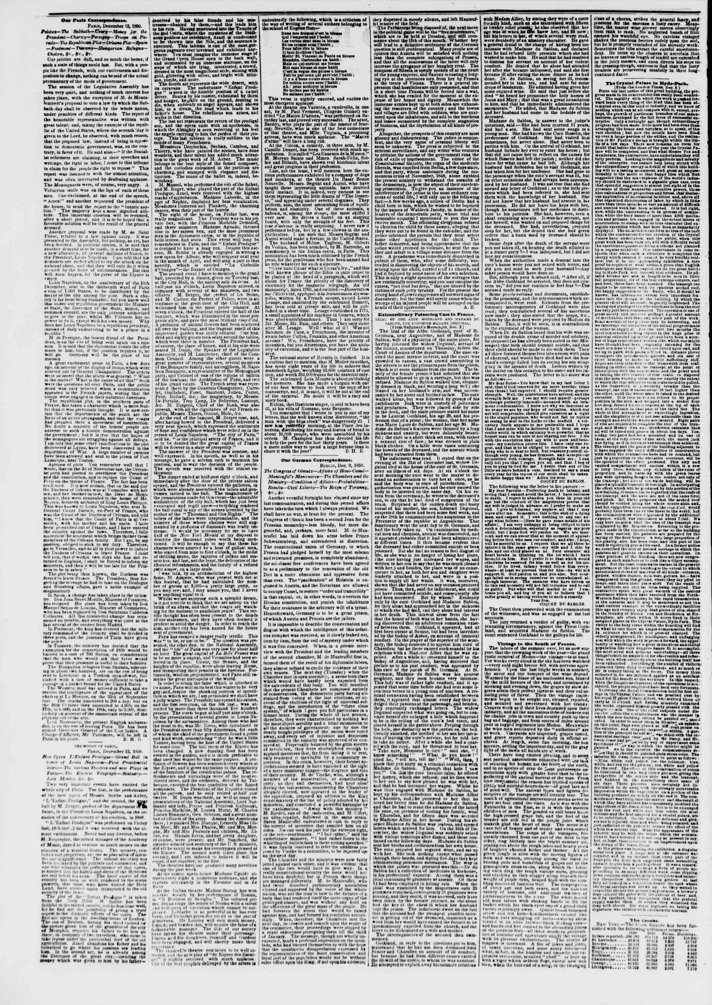 Newspaper of The New York Herald dated January 4, 1851 Page 2