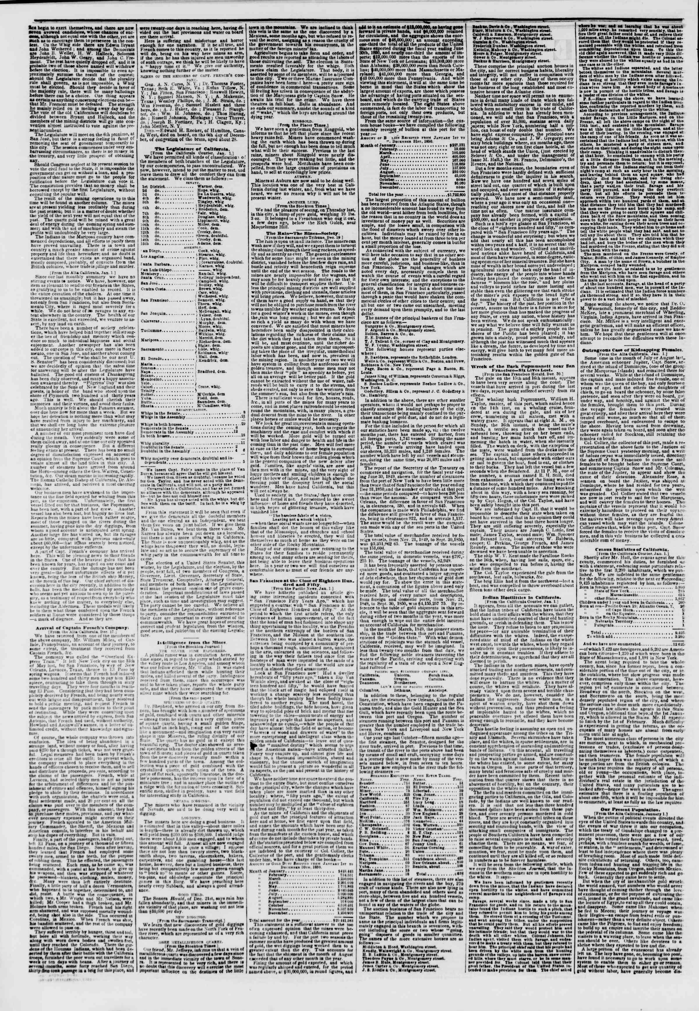Newspaper of The New York Herald dated February 8, 1851 Page 2