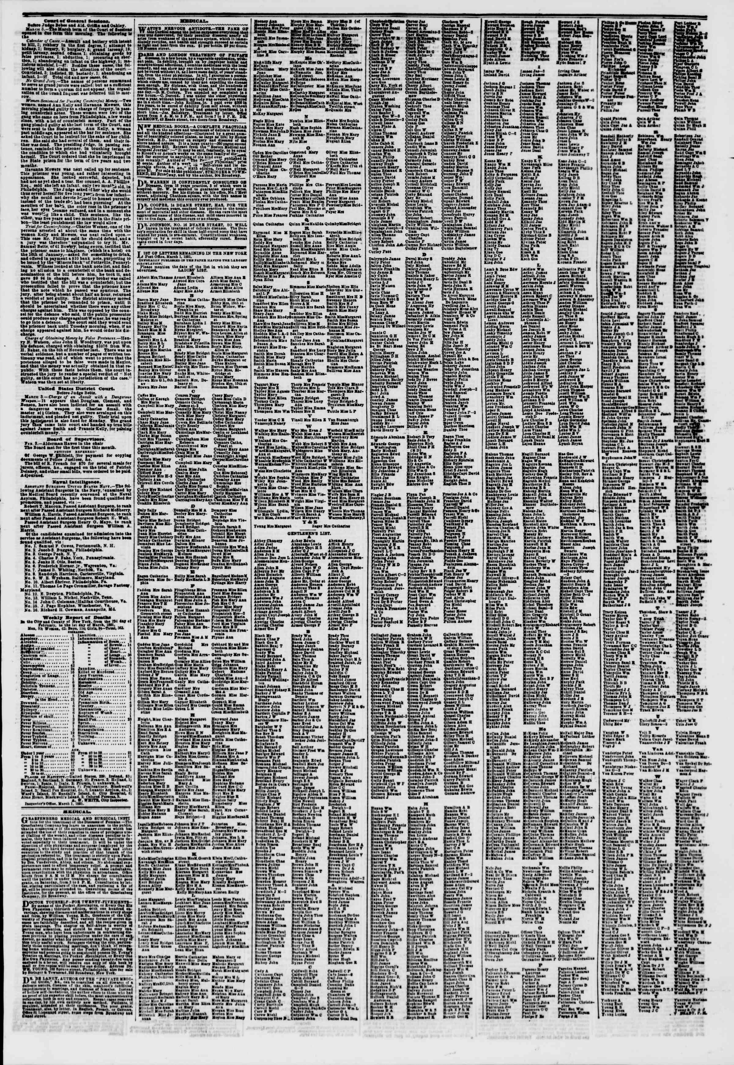 Newspaper of The New York Herald dated March 5, 1851 Page 7