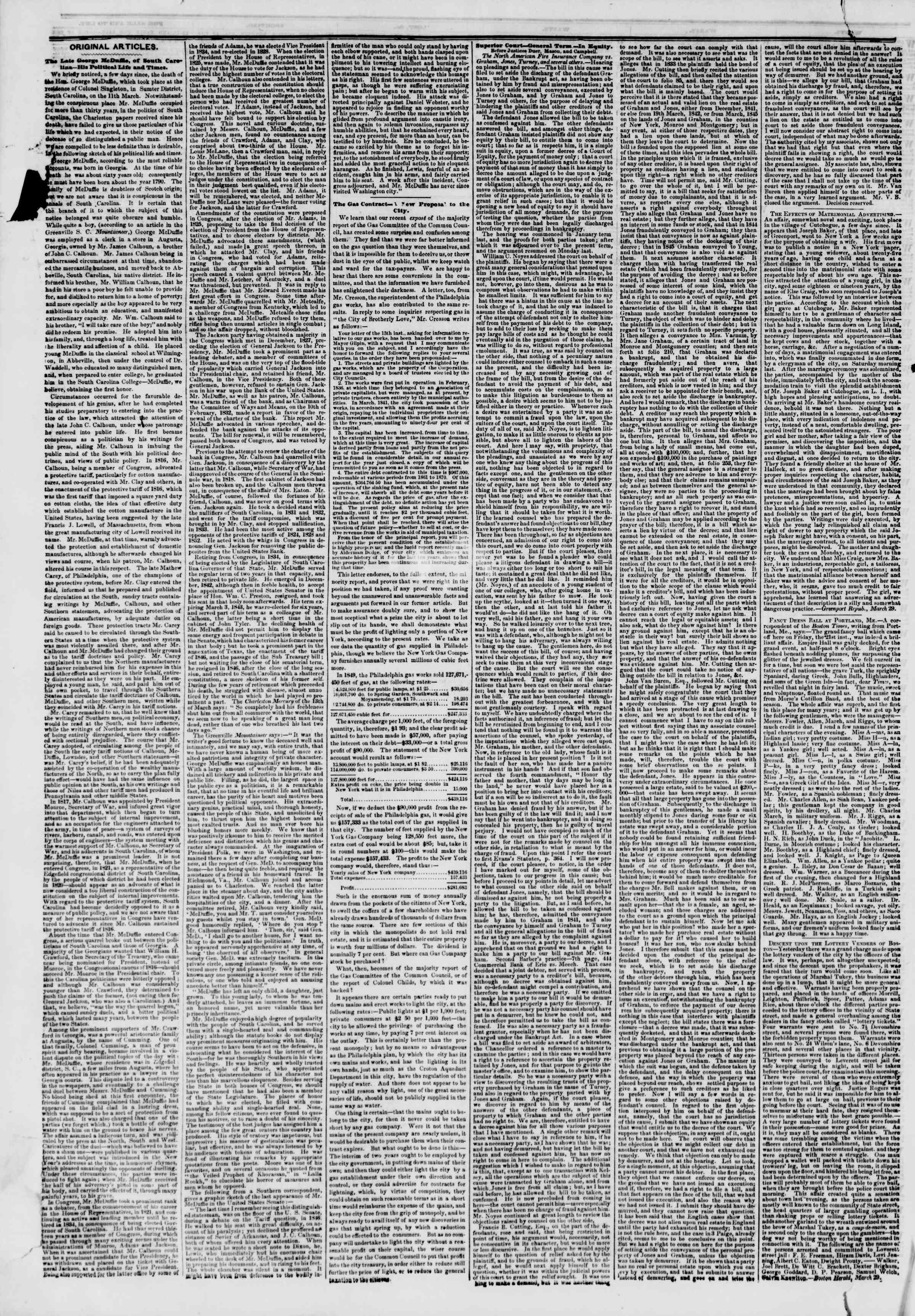 1 Nisan 1851 tarihli The New York Herald Gazetesi Sayfa 6