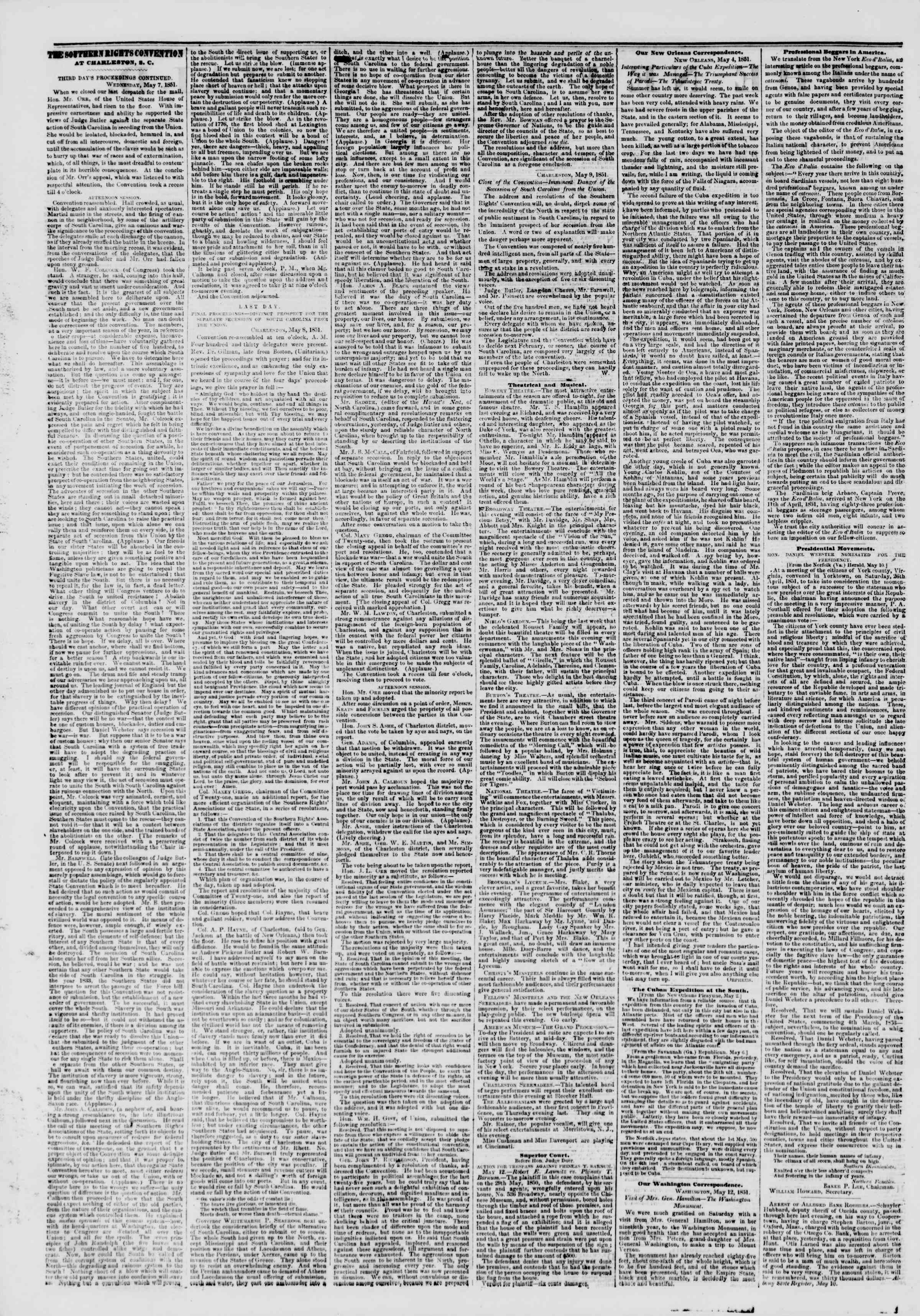 Newspaper of The New York Herald dated May 13, 1851 Page 2