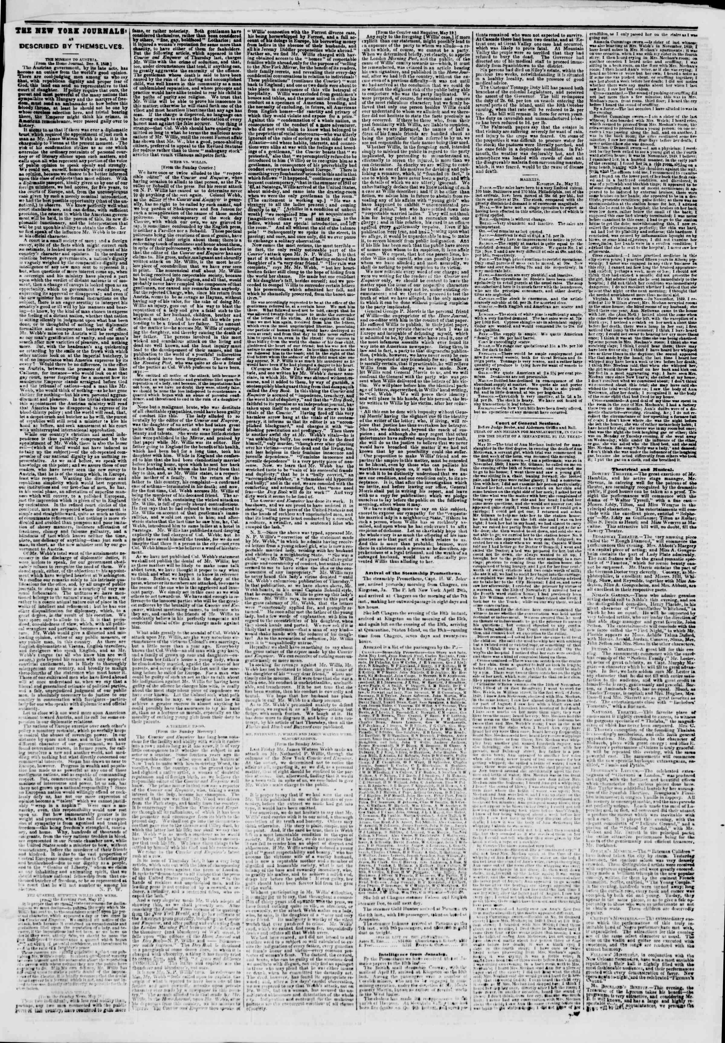 Newspaper of The New York Herald dated 20 Mayıs 1851 Page 6