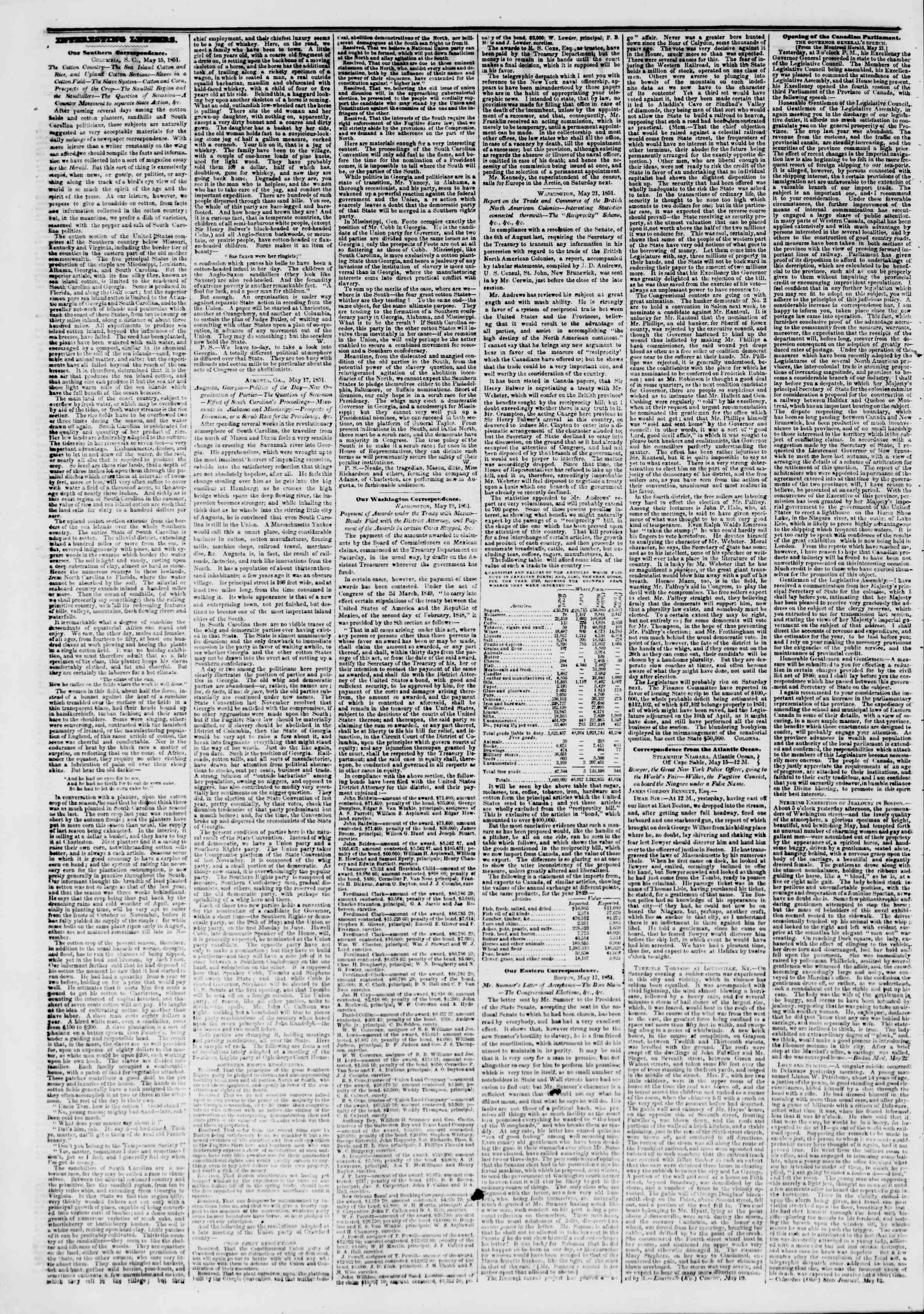 Newspaper of The New York Herald dated May 24, 1851 Page 2