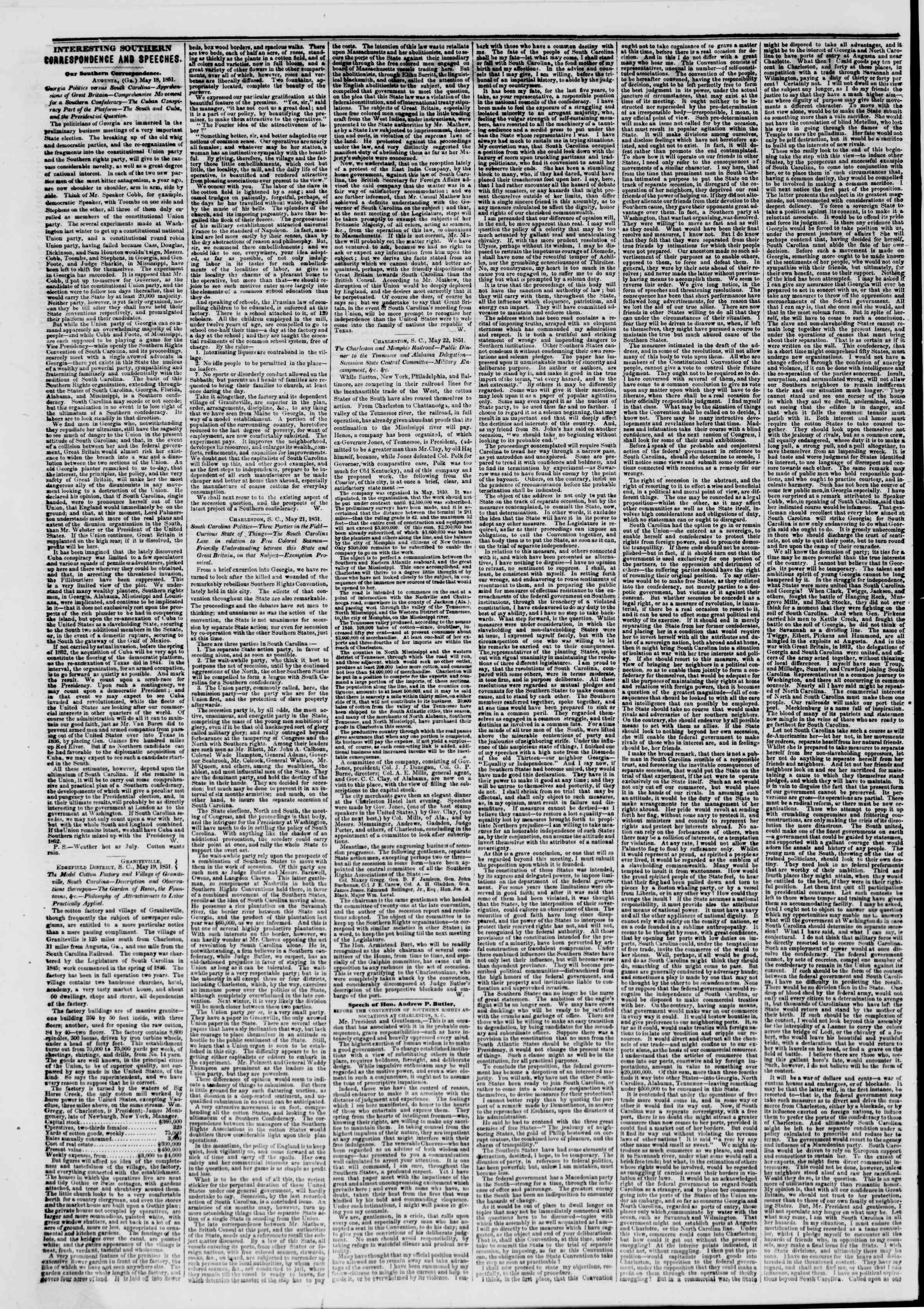 Newspaper of The New York Herald dated May 27, 1851 Page 2