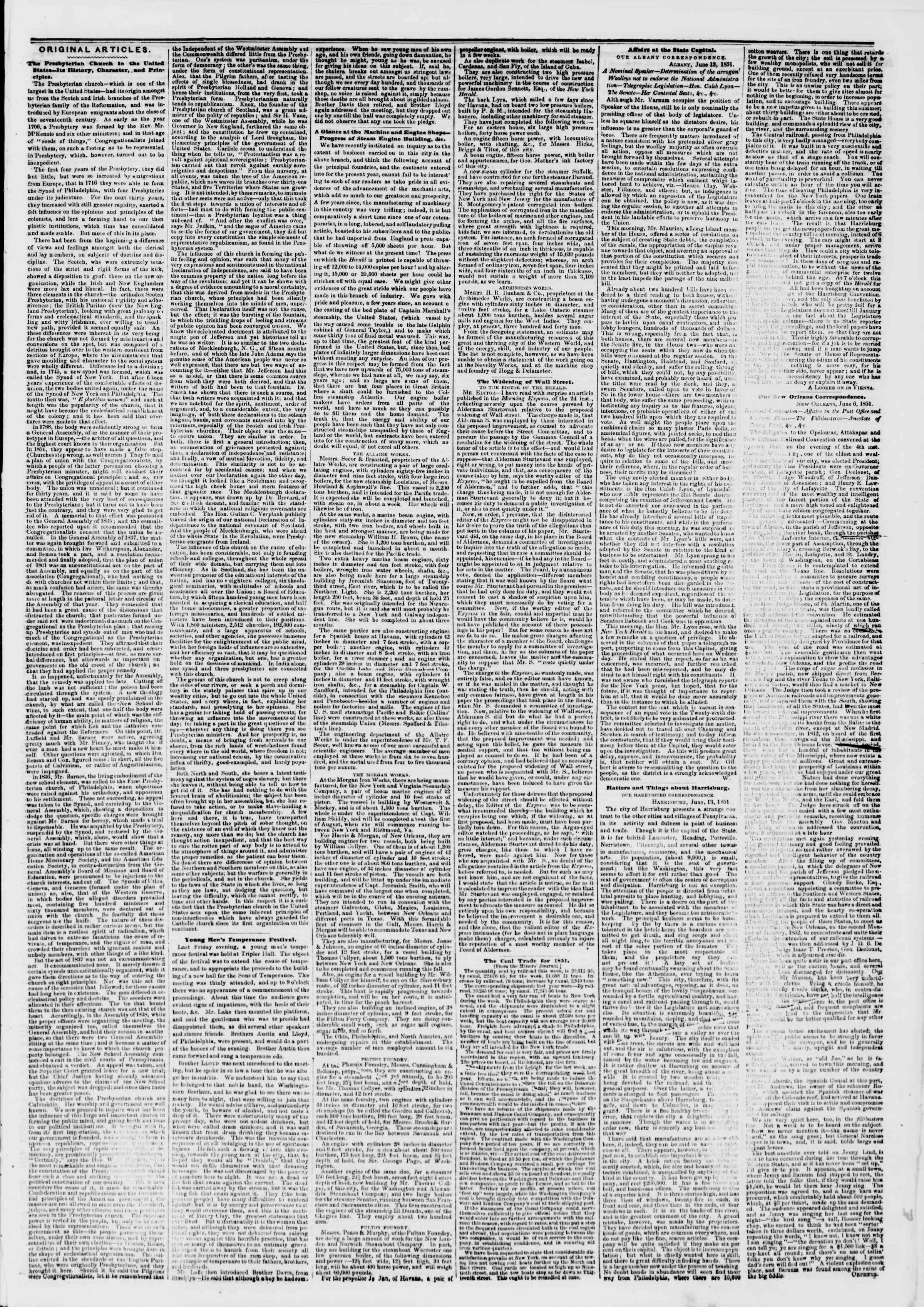 Newspaper of The New York Herald dated 17 Haziran 1851 Page 3