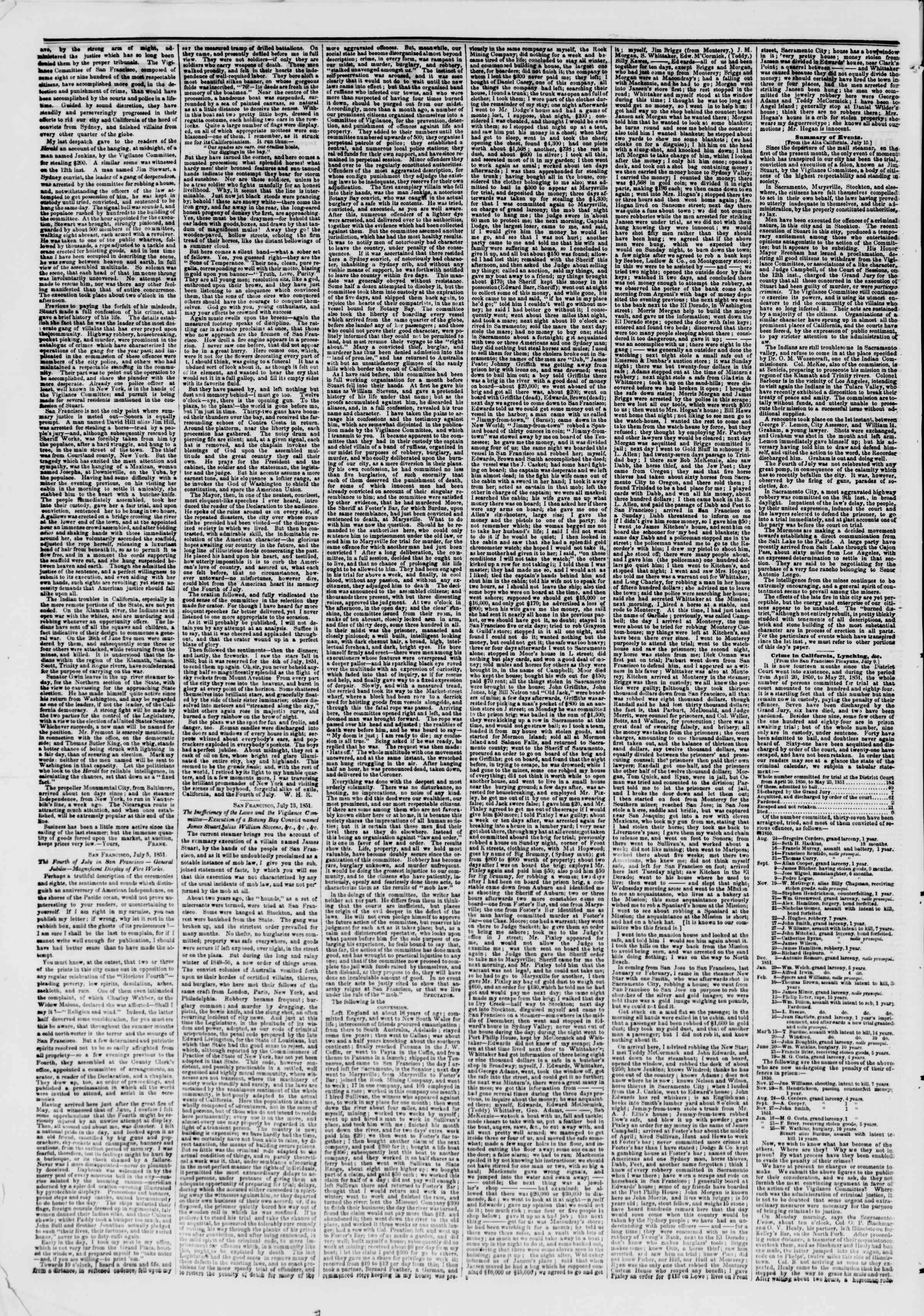 14 Ağustos 1851 tarihli The New York Herald Gazetesi Sayfa 2